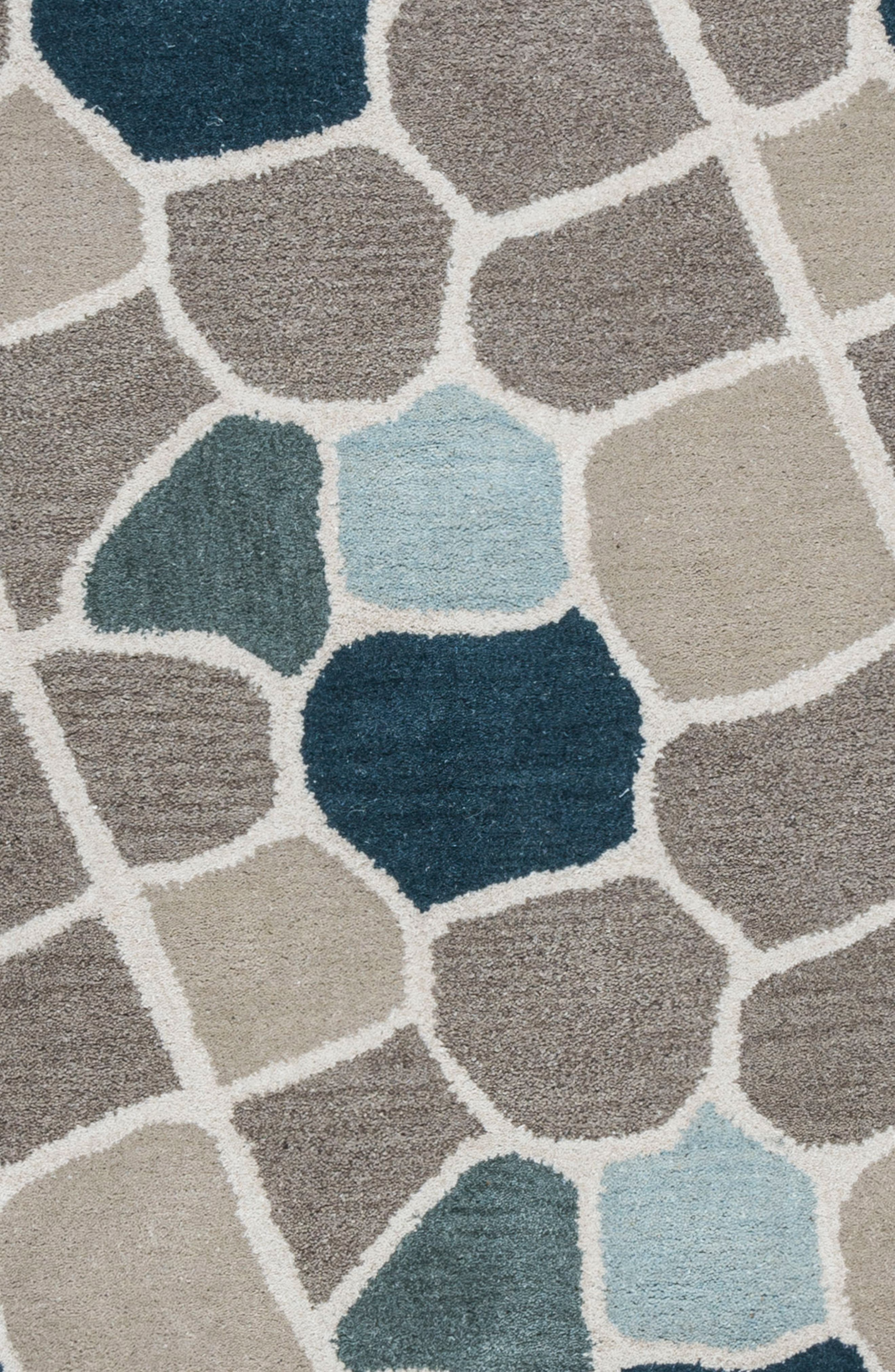 Cobble Geo Hand Tufted Wool Area Rug,                             Alternate thumbnail 6, color,                             020