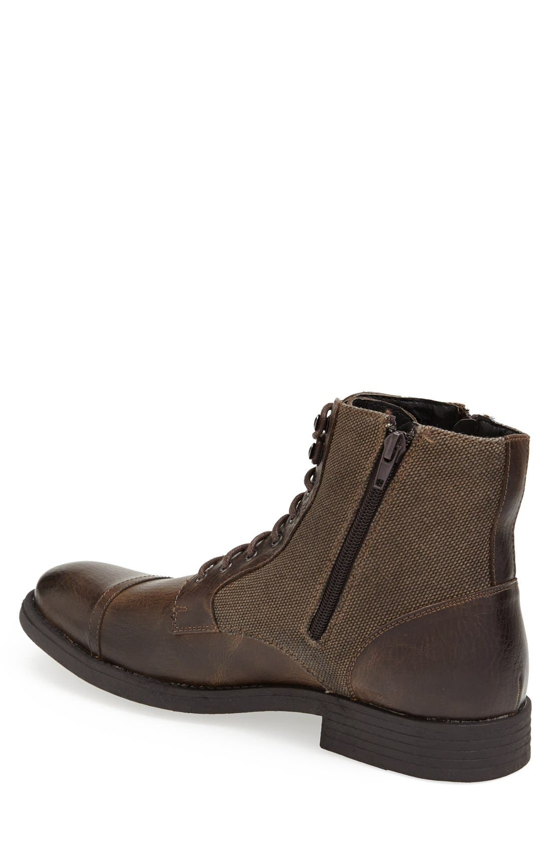 'Edgar' Cap Toe Boot,                             Alternate thumbnail 4, color,                             201