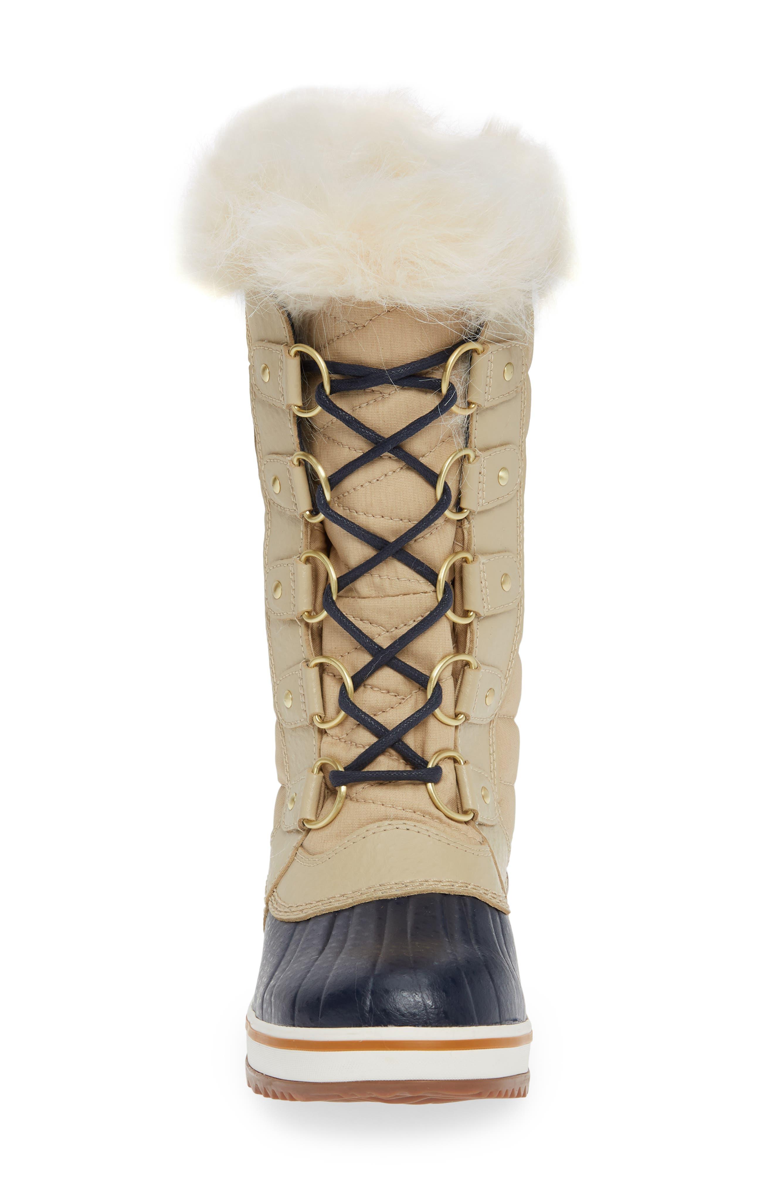 'Tofino II' Faux Fur Lined Waterproof Boot,                             Alternate thumbnail 4, color,                             OATMEAL