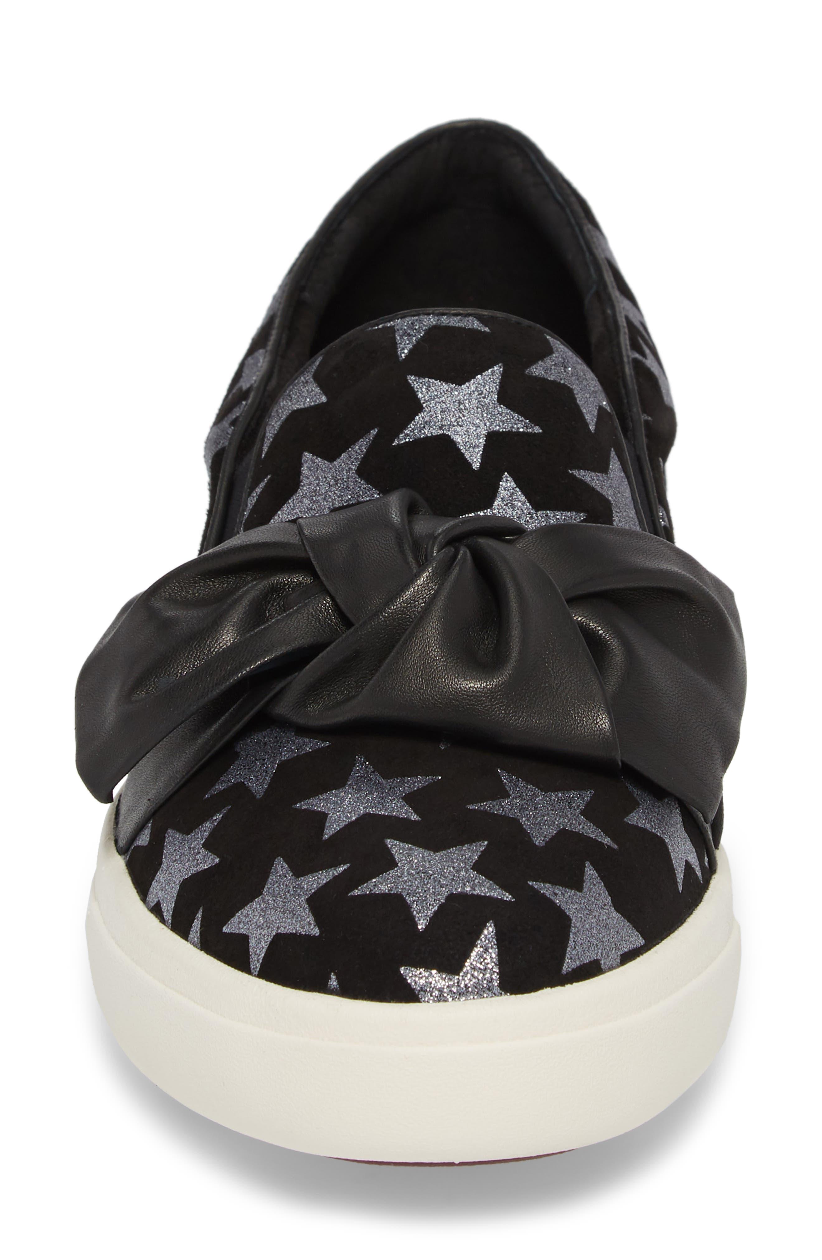 Odelet Slip-On Sneaker,                             Alternate thumbnail 4, color,                             BLACK/ PEWTER SUEDE