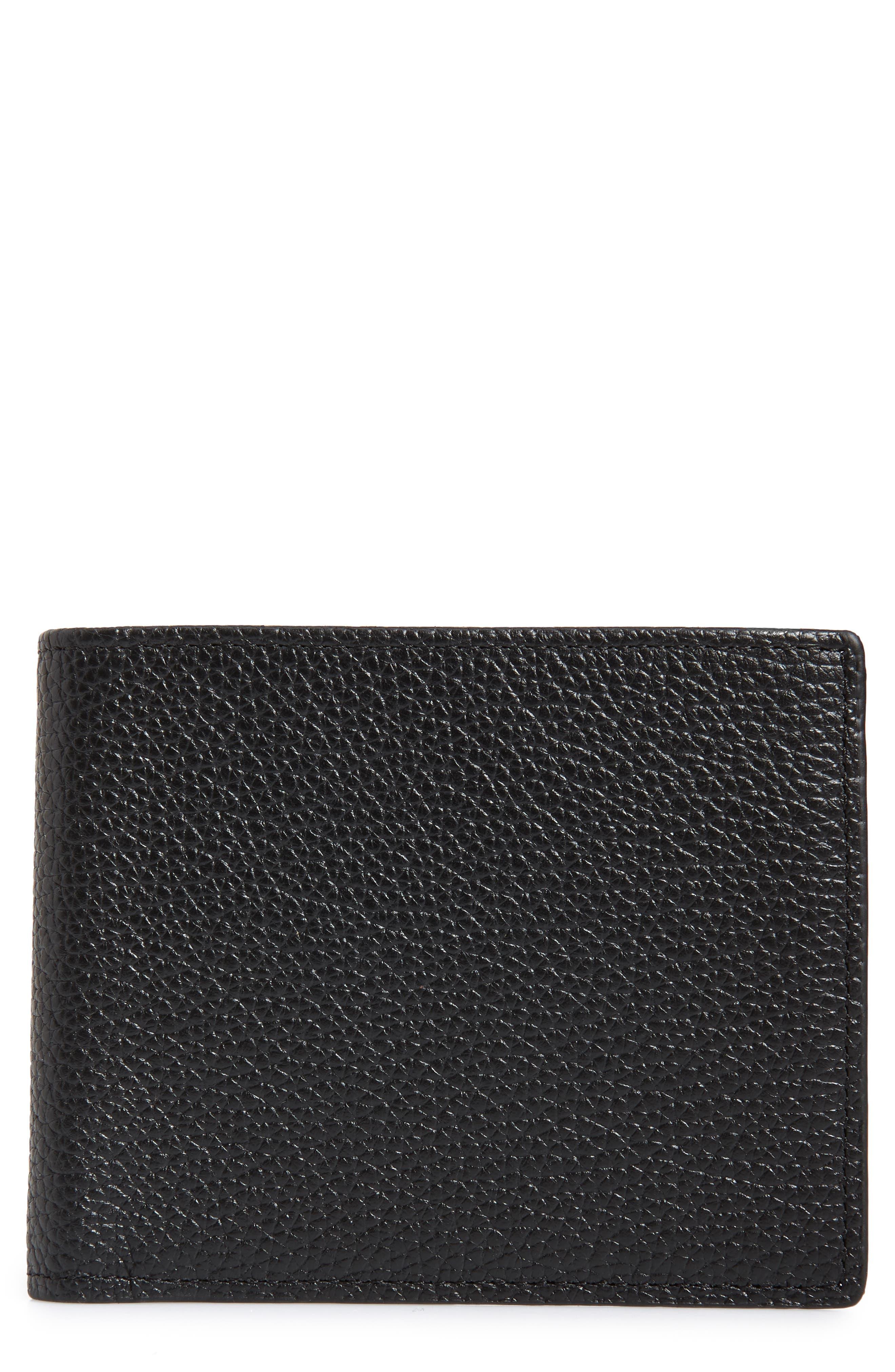 Midland RFID Leather Wallet,                             Main thumbnail 1, color,                             BLACK