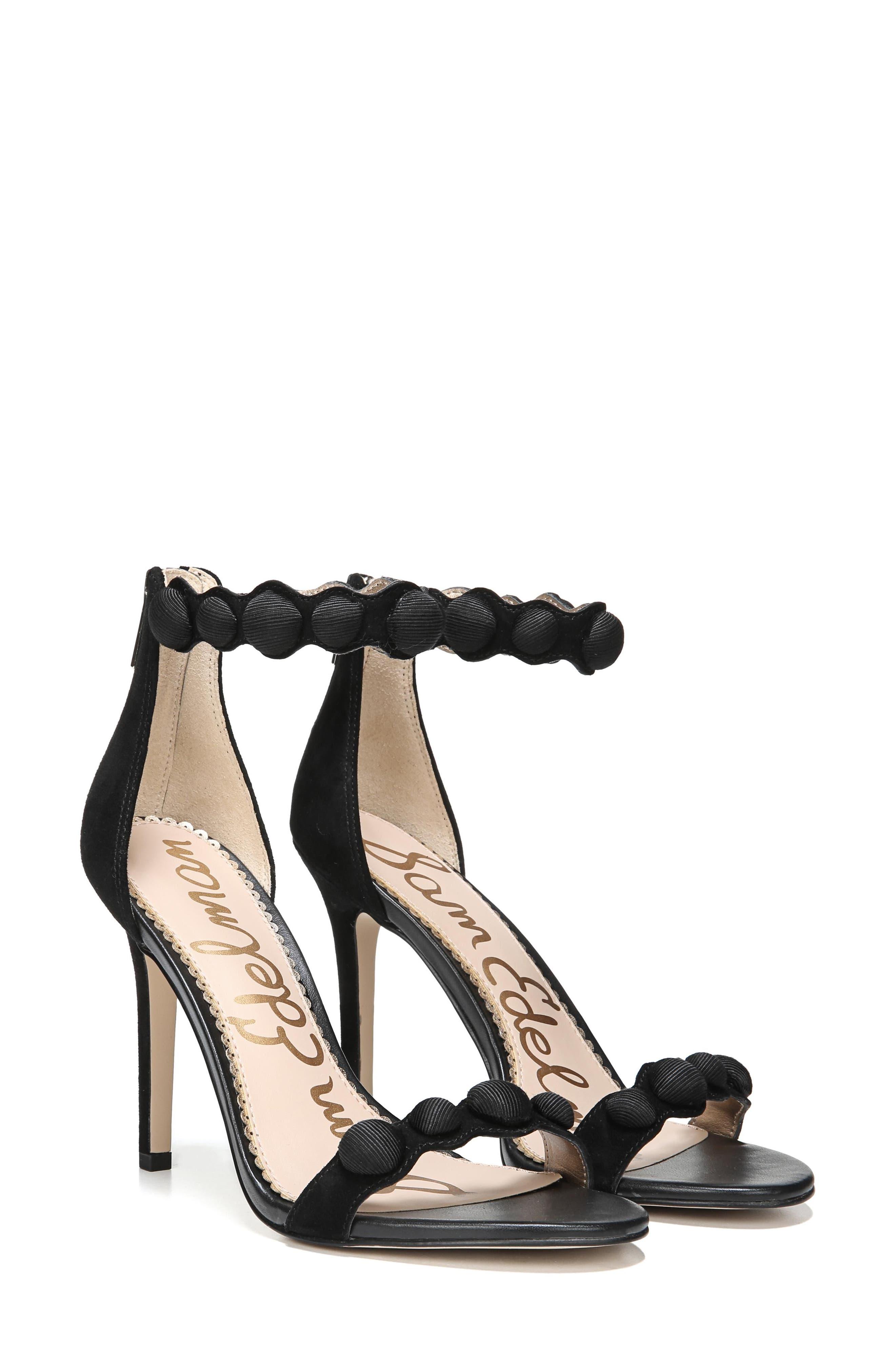 Sam Edelmen Addison Embellished Ankle Strap Sandal,                             Alternate thumbnail 8, color,                             001