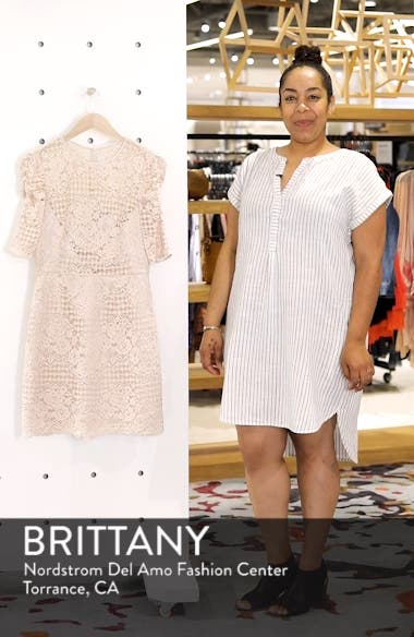 Ruched Sleeve Lace Dress, sales video thumbnail