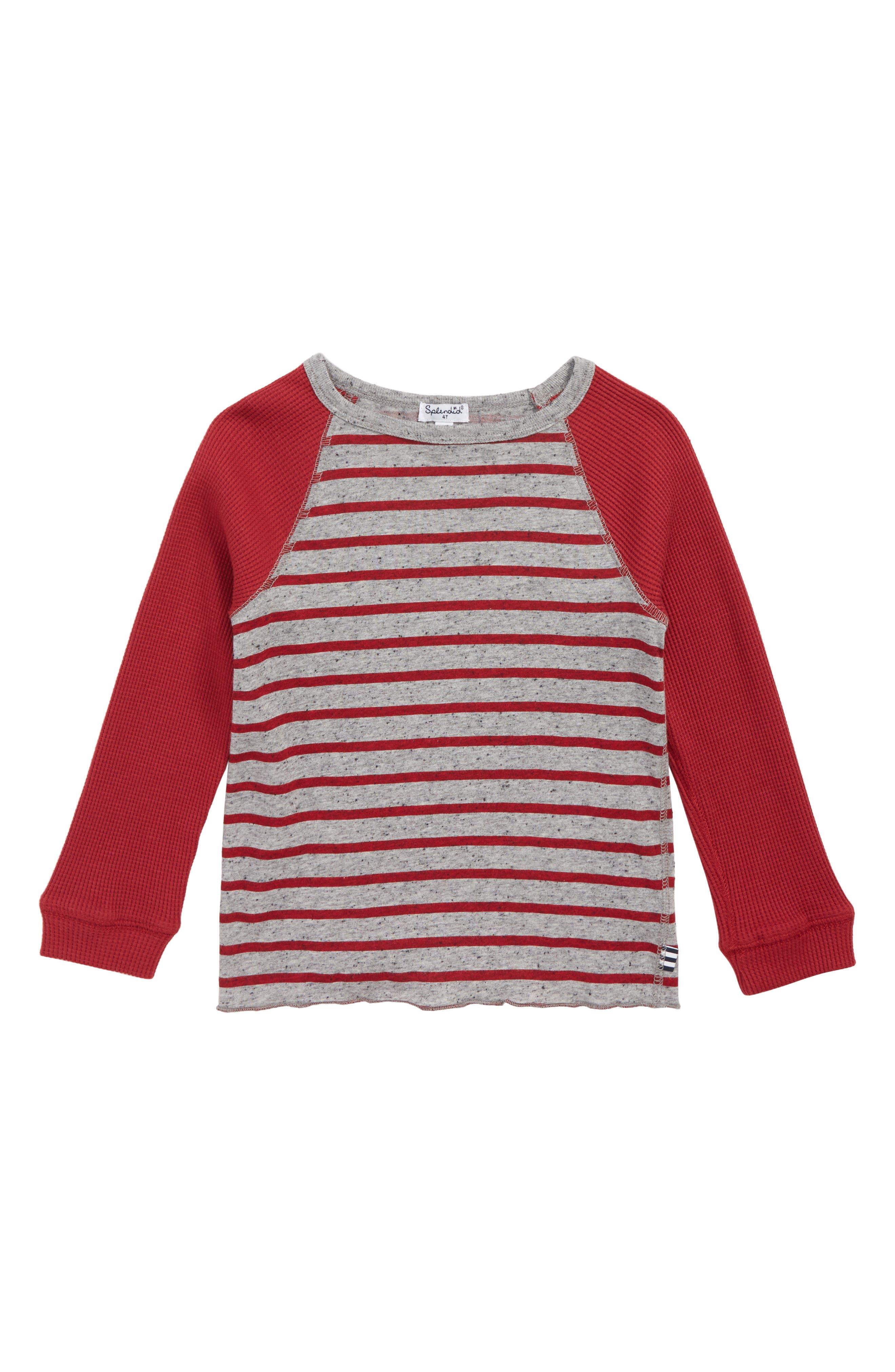 Stripe Raglan Shirt,                         Main,                         color, 600