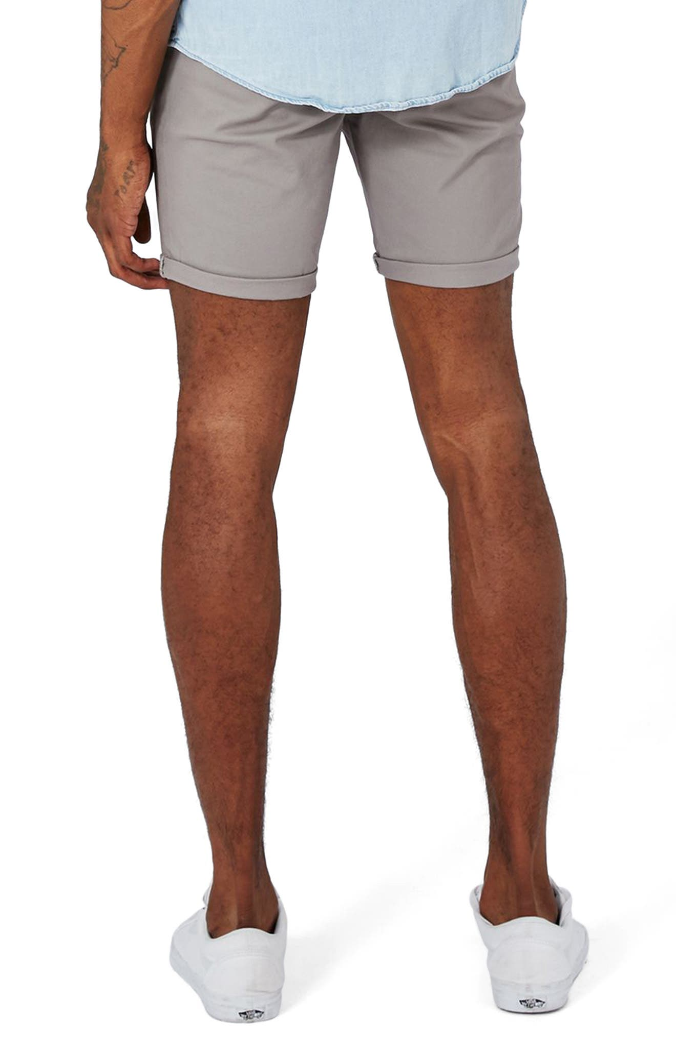 Stretch Skinny Fit Chino Shorts,                             Alternate thumbnail 2, color,                             030