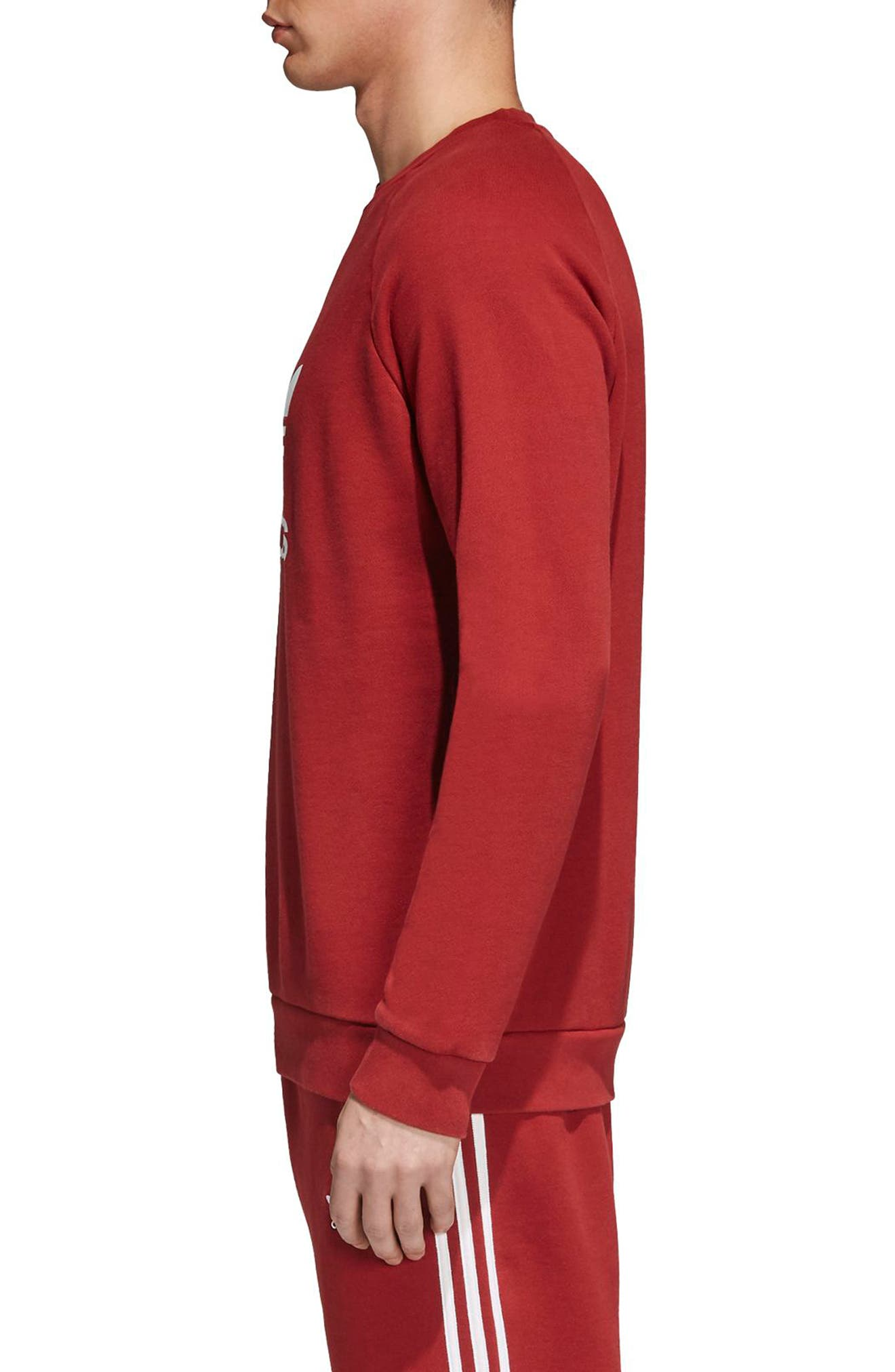 adidas Trefoil Crewneck Sweatshirt,                             Alternate thumbnail 6, color,