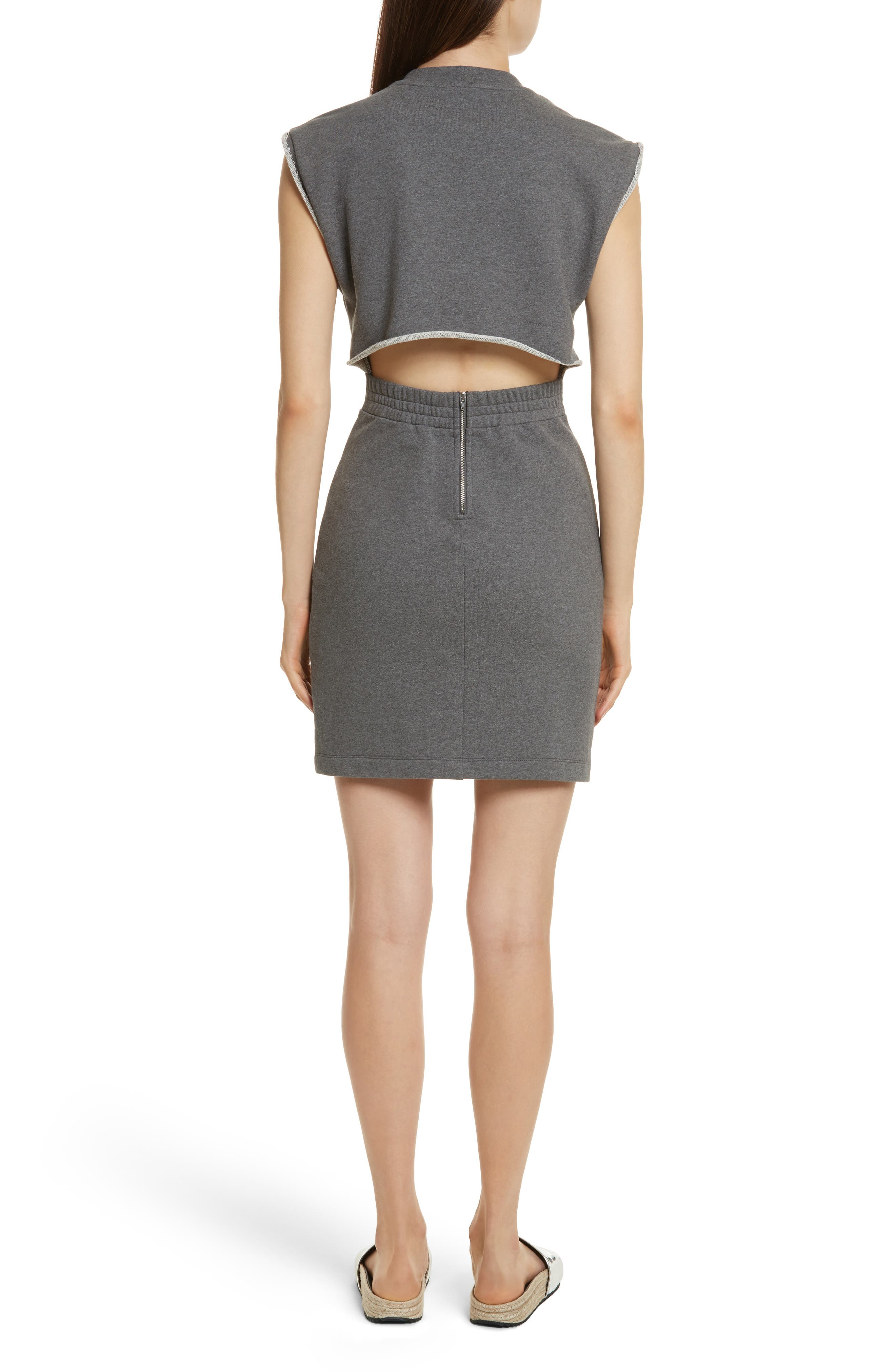 T by Alexander Wang French Terry Dress,                             Alternate thumbnail 2, color,                             020
