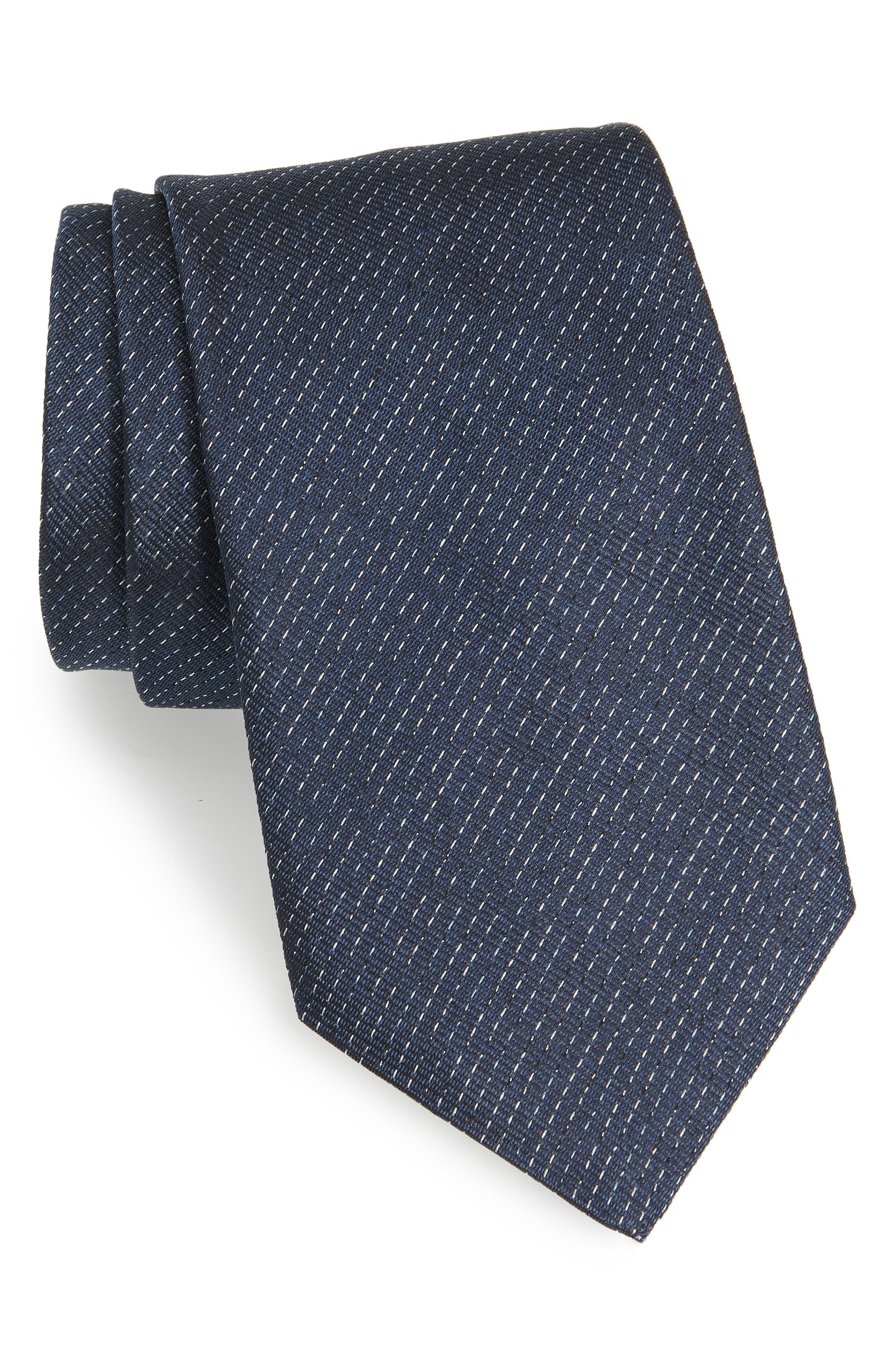Stripe Silk Tie,                         Main,                         color, 463
