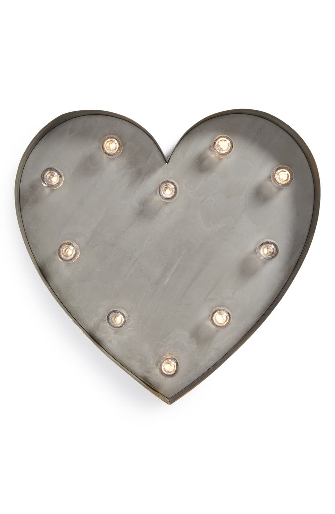 Light-Up Marquee Heart,                             Main thumbnail 1, color,                             020