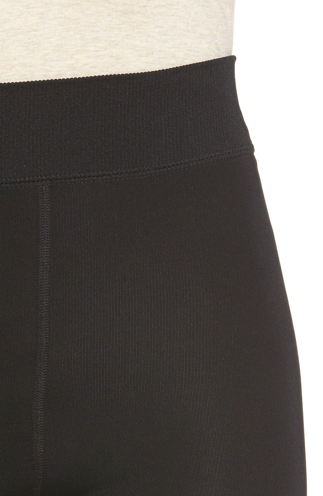 Faux Fur Lined Leggings,                             Alternate thumbnail 4, color,                             001