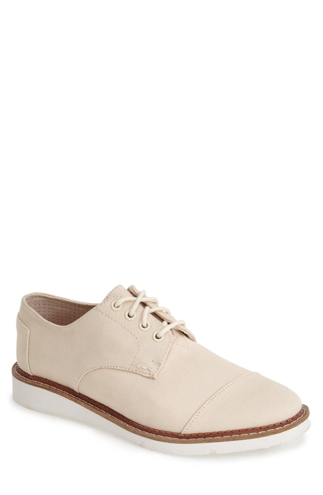 'Classic Brogue' Cotton Twill Derby,                             Main thumbnail 9, color,