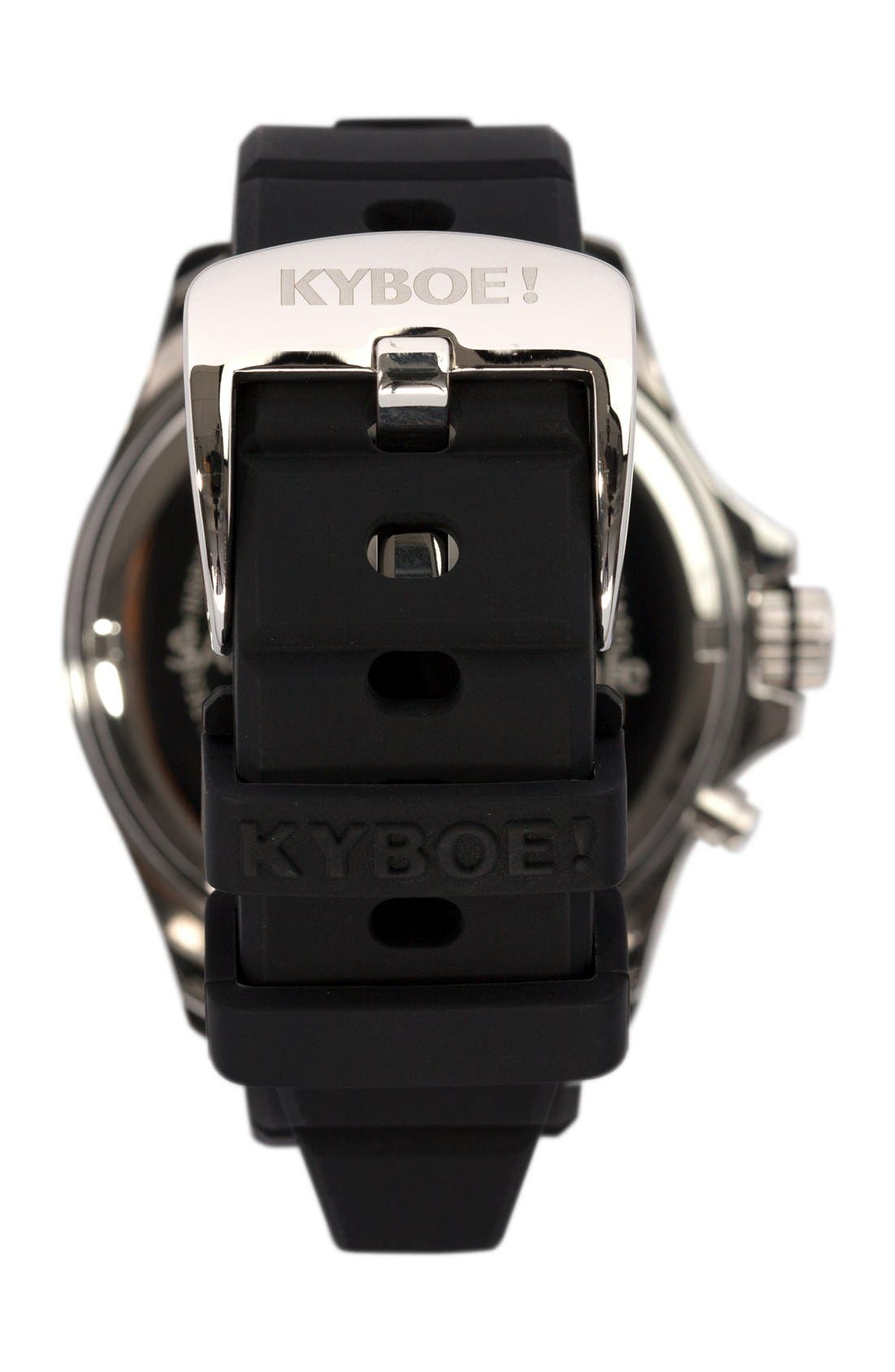 KYBOE!,                             Silicone Strap Watch, 48mm,                             Alternate thumbnail 2, color,                             001