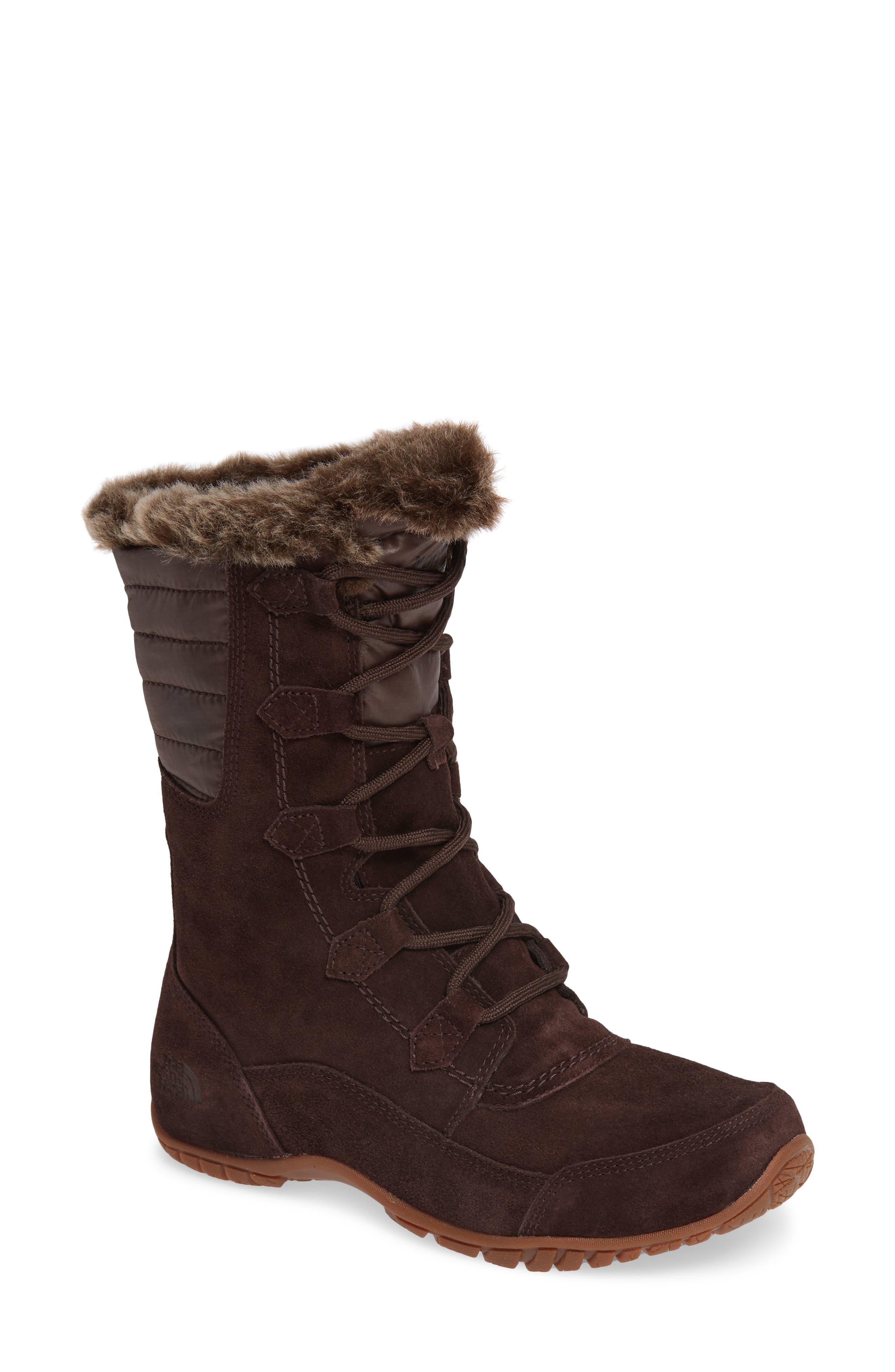 Nuptse Purna II Waterproof PrimaLoft<sup>®</sup> Silver Eco Insulated Winter Boot,                         Main,                         color, 201