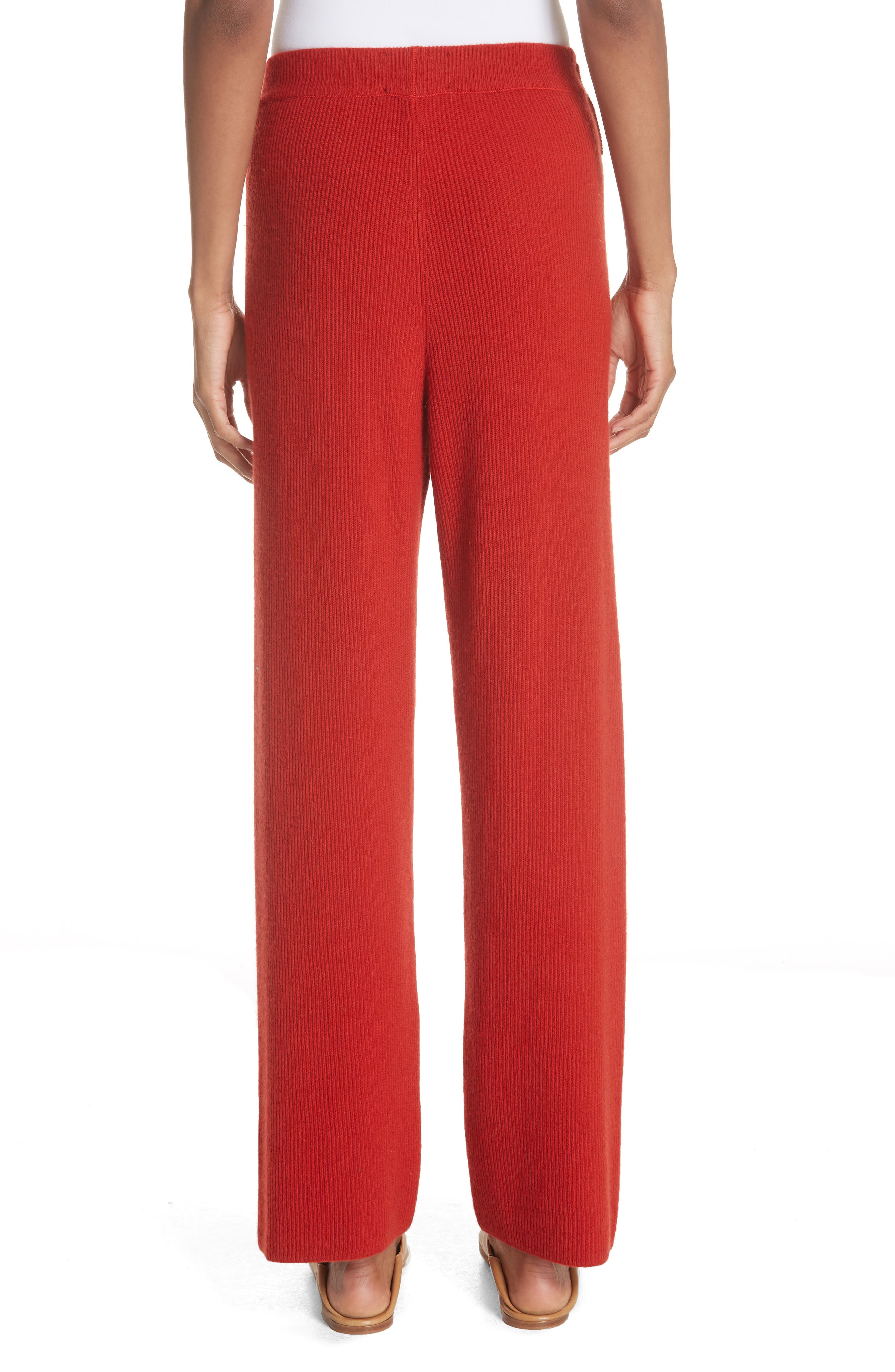 Tigre Merino Wool & Cashmere Blend Pants,                             Alternate thumbnail 2, color,                             RED