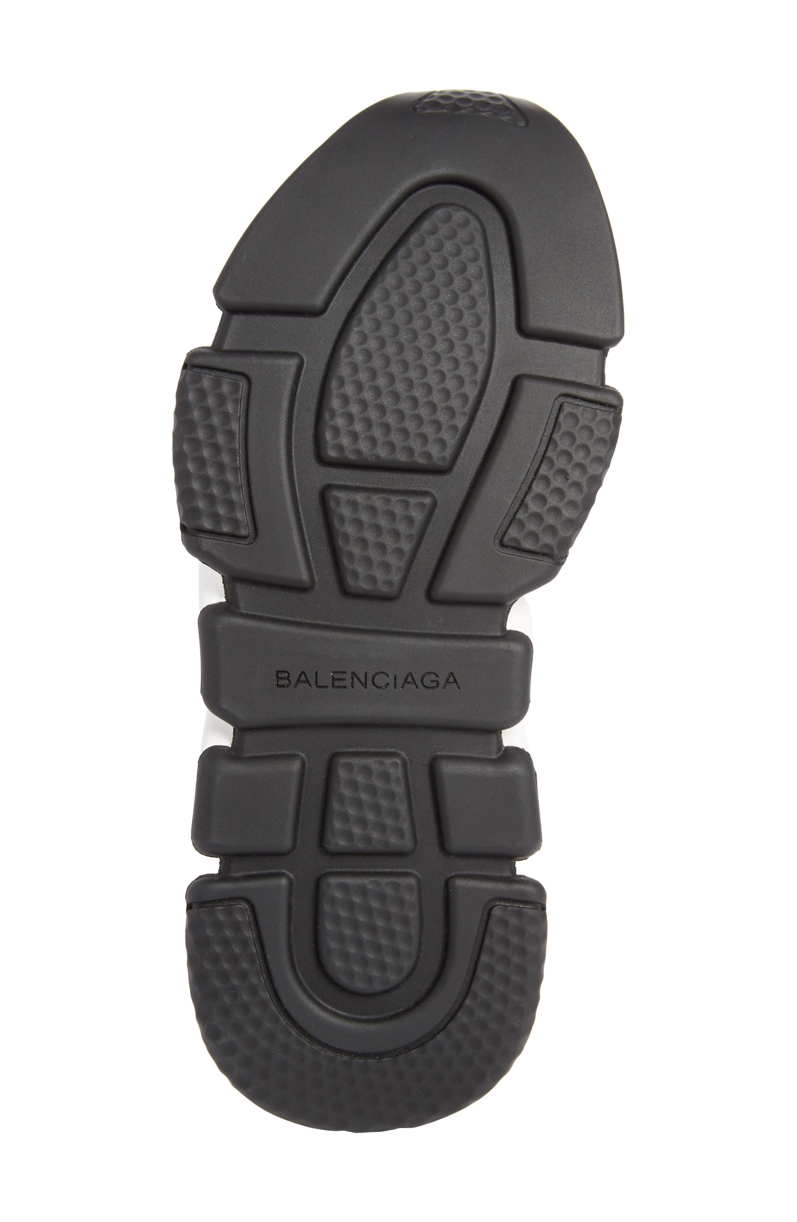 Speed Logo Sock Sneaker,                             Alternate thumbnail 5, color,                             BLACK/ WHITE