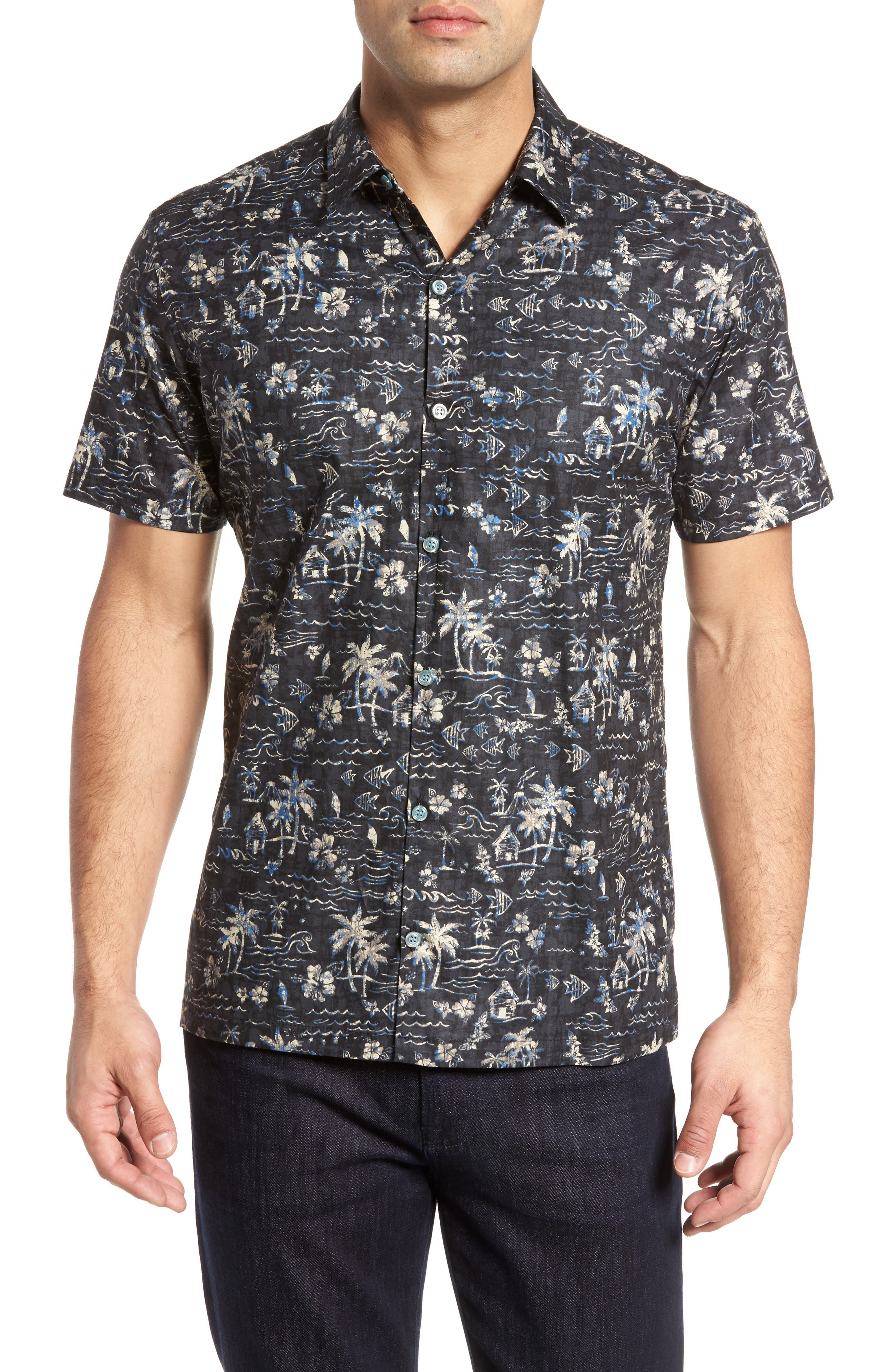 Smallville Regular Fit Print Sport Shirt,                         Main,                         color, 001