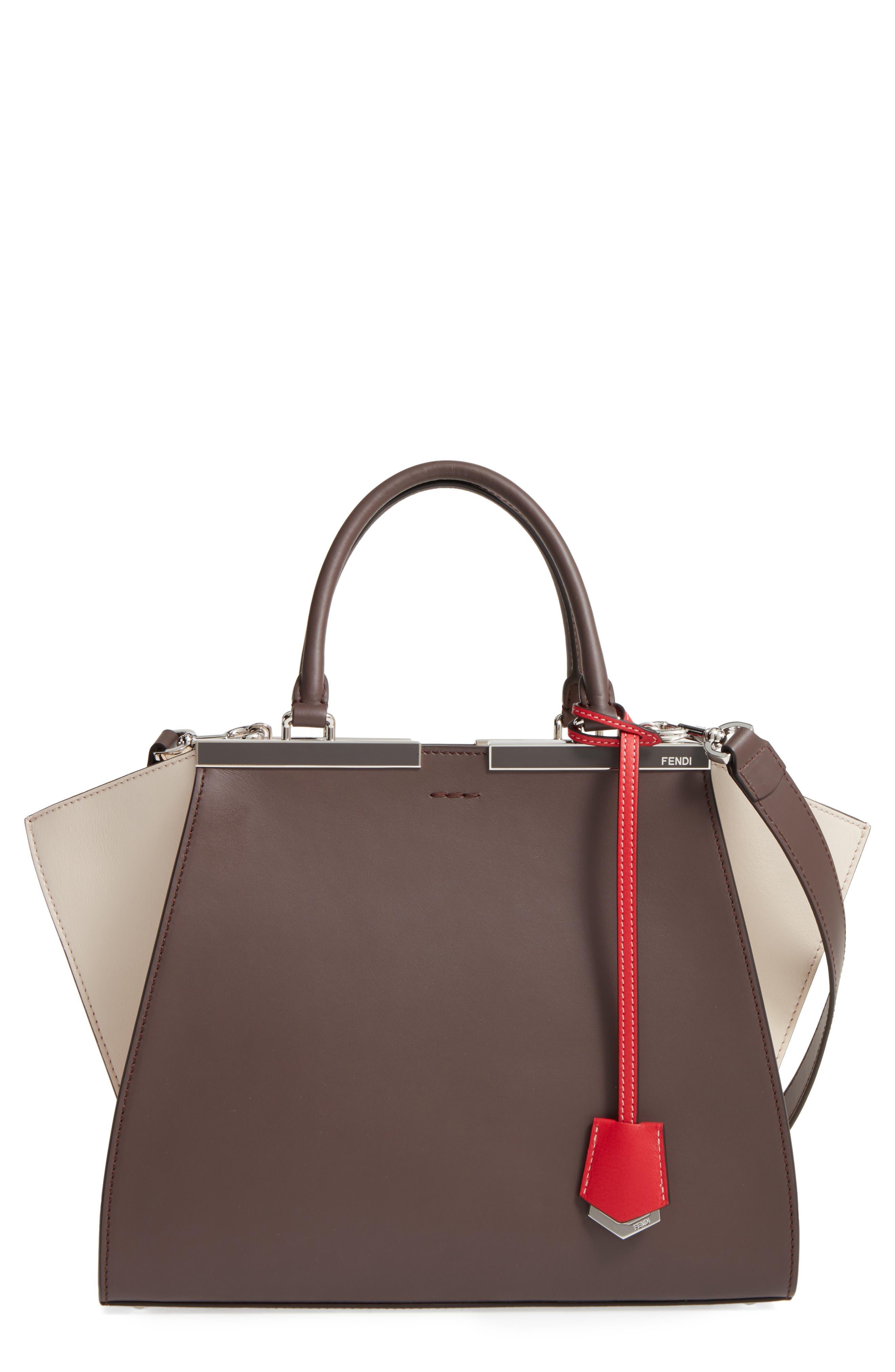 3Jours Colorblock Calfskin Leather Shopper,                         Main,                         color, 204