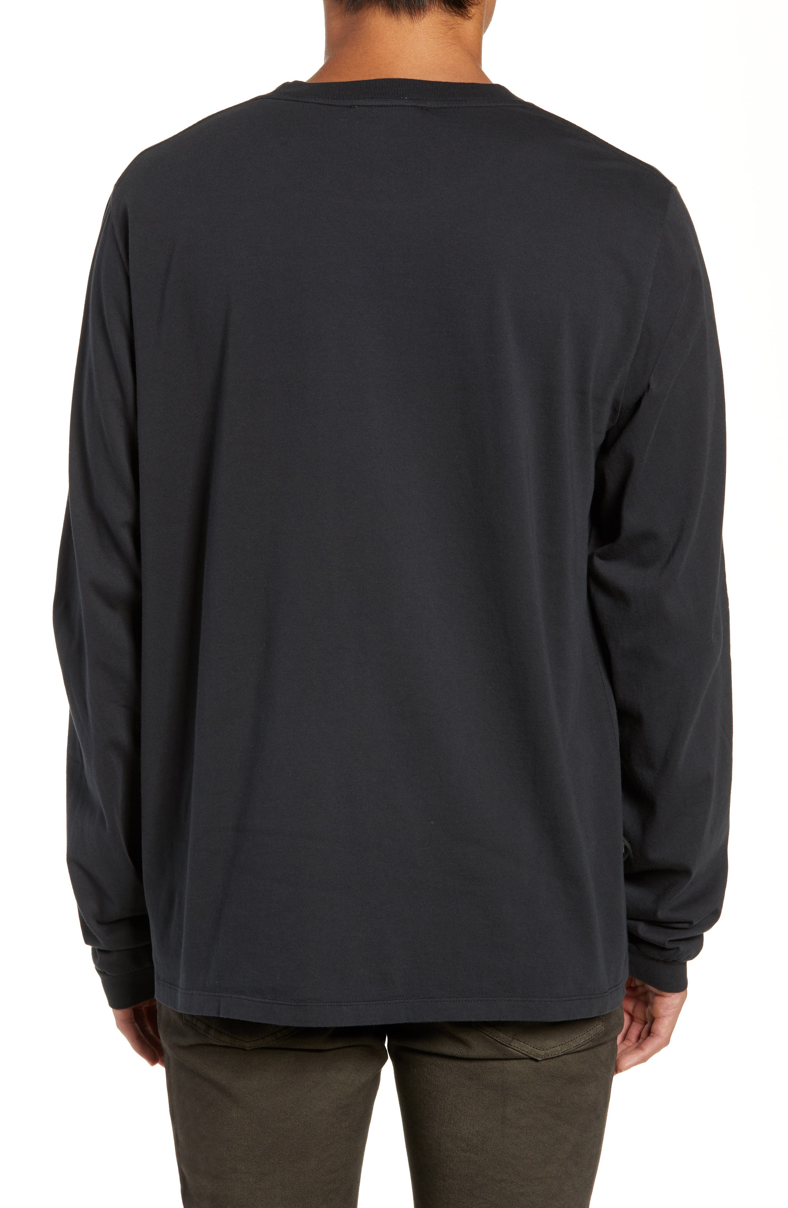 Final Long Sleeve T-Shirt,                             Alternate thumbnail 2, color,                             FADED BLACK