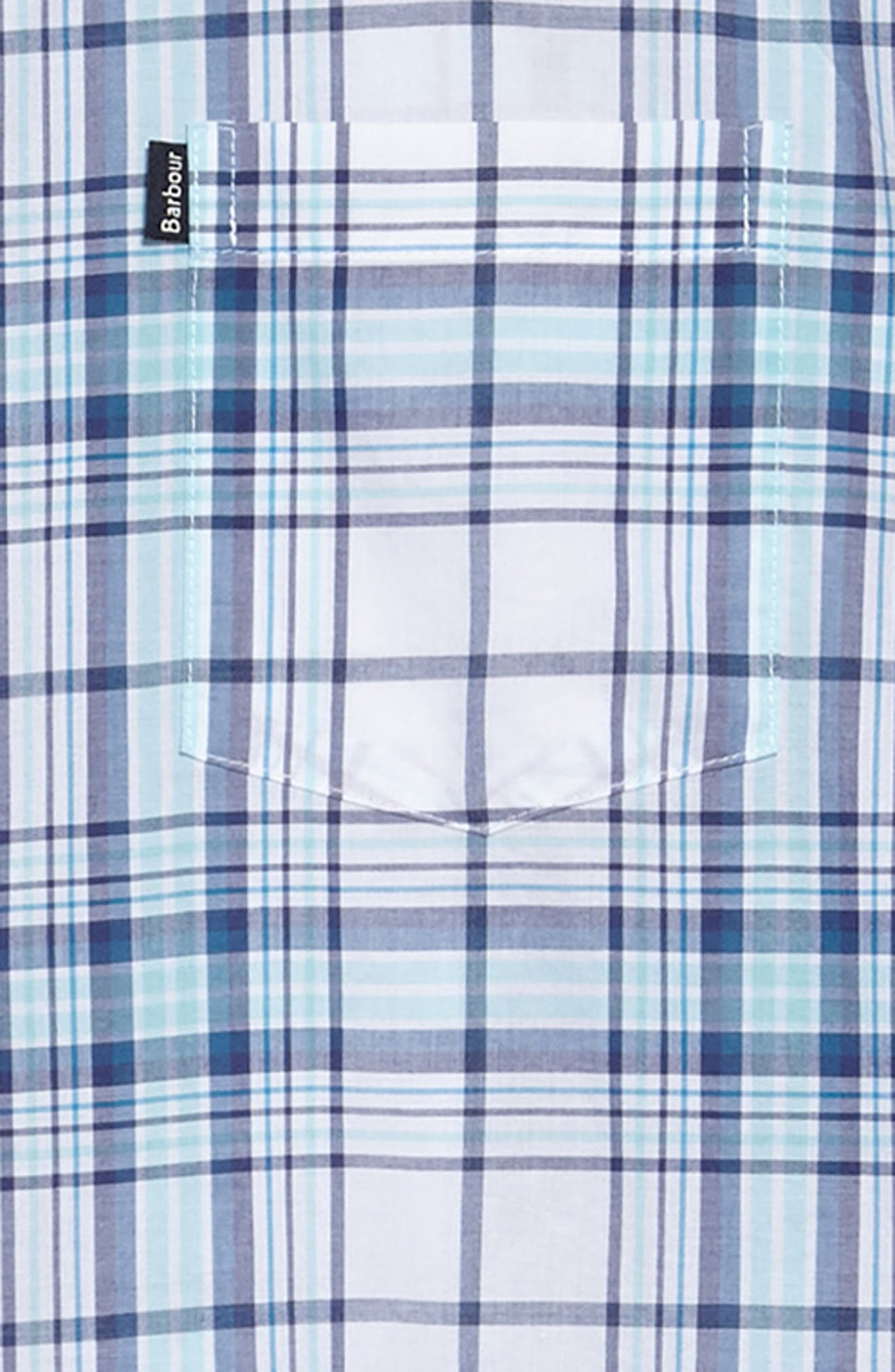 Christopher Tailored Fit Plaid Sport Shirt,                             Alternate thumbnail 6, color,                             440