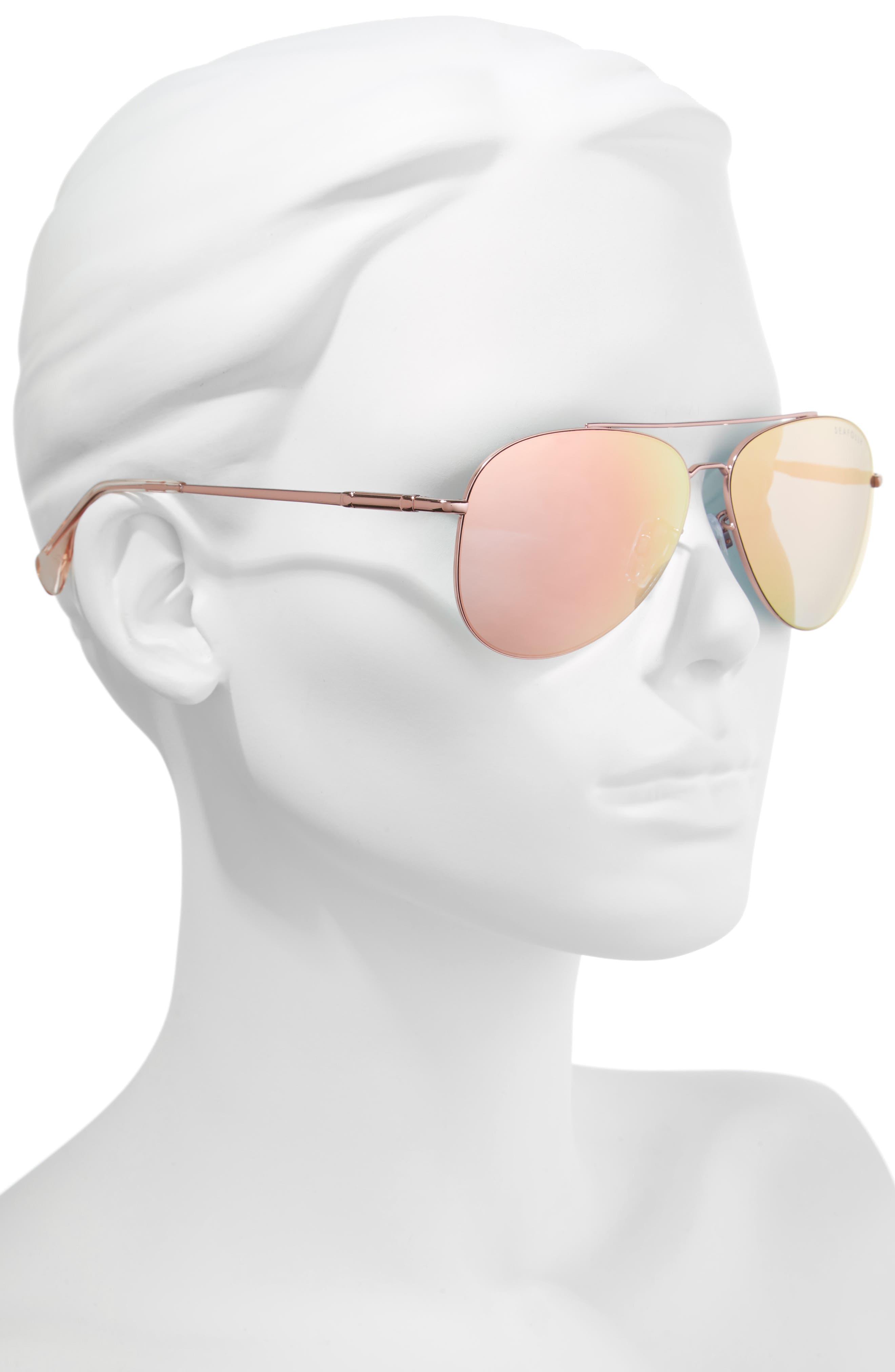 Hiva Oa 58mm Aviator Sunglasses,                             Alternate thumbnail 2, color,                             BALLET