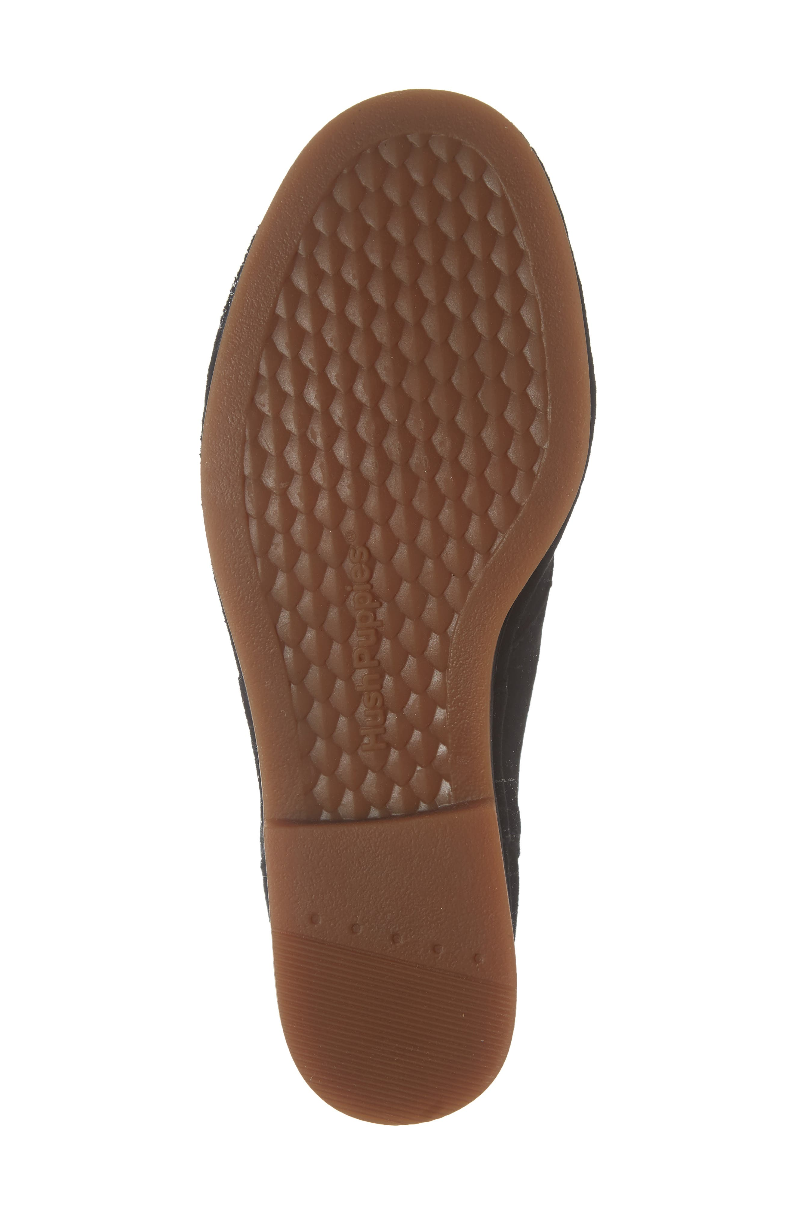 HUSH PUPPIES<SUP>®</SUP>,                             Cyra Catelyn Chukka Bootie,                             Alternate thumbnail 6, color,                             BLACK SUEDE