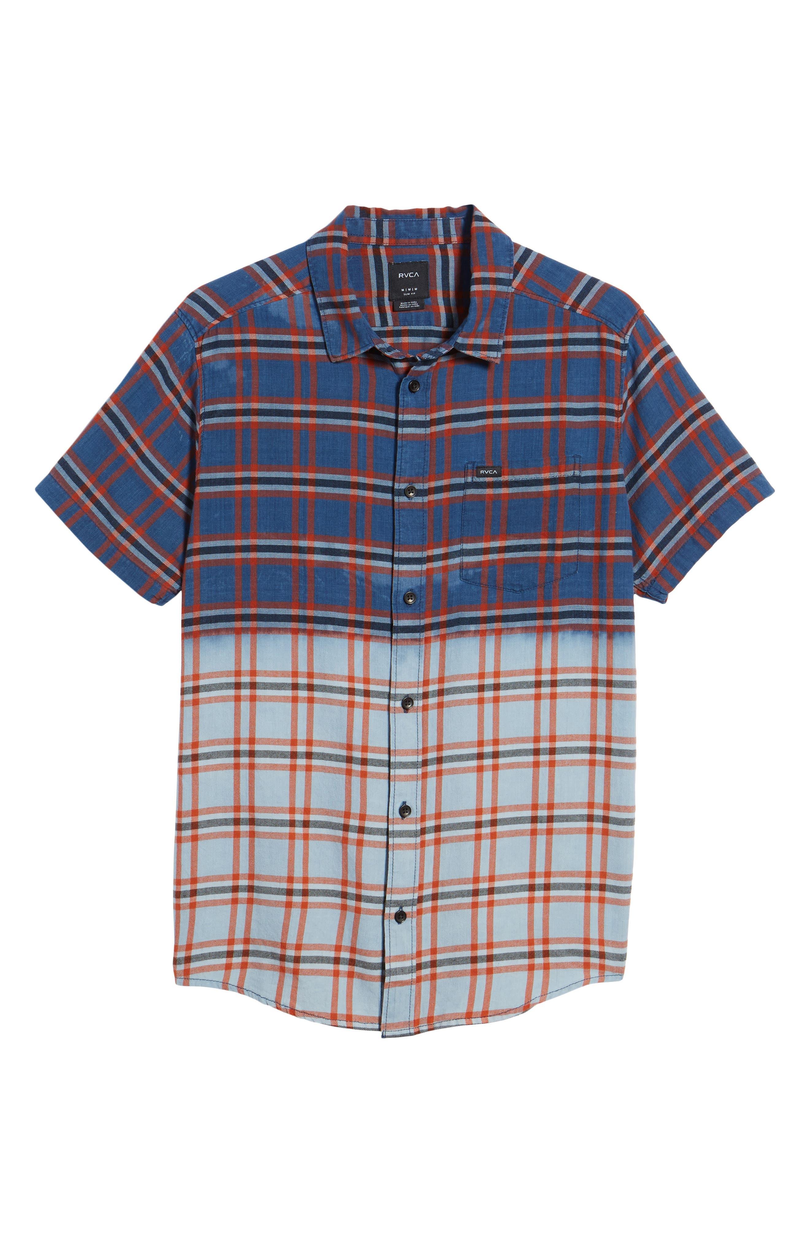 Prismatic Check Woven Shirt,                             Alternate thumbnail 6, color,                             458