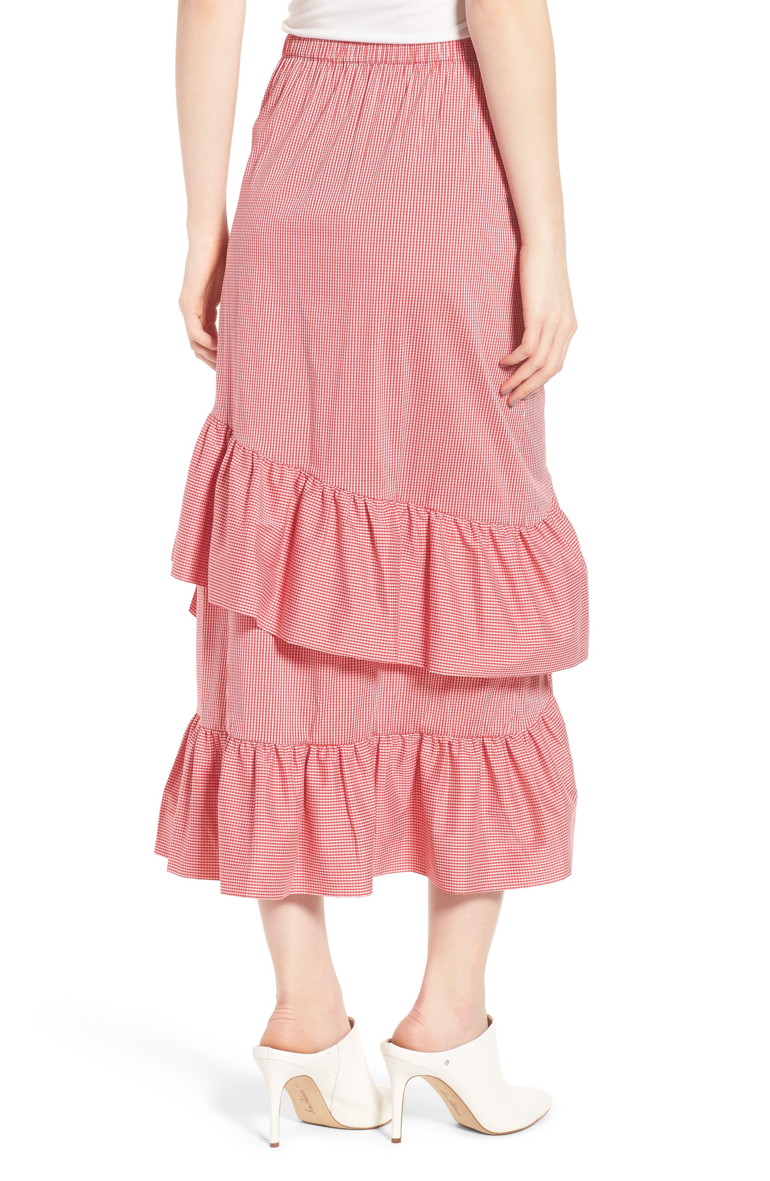 Gingham Ruffle Skirt,                             Alternate thumbnail 4, color,