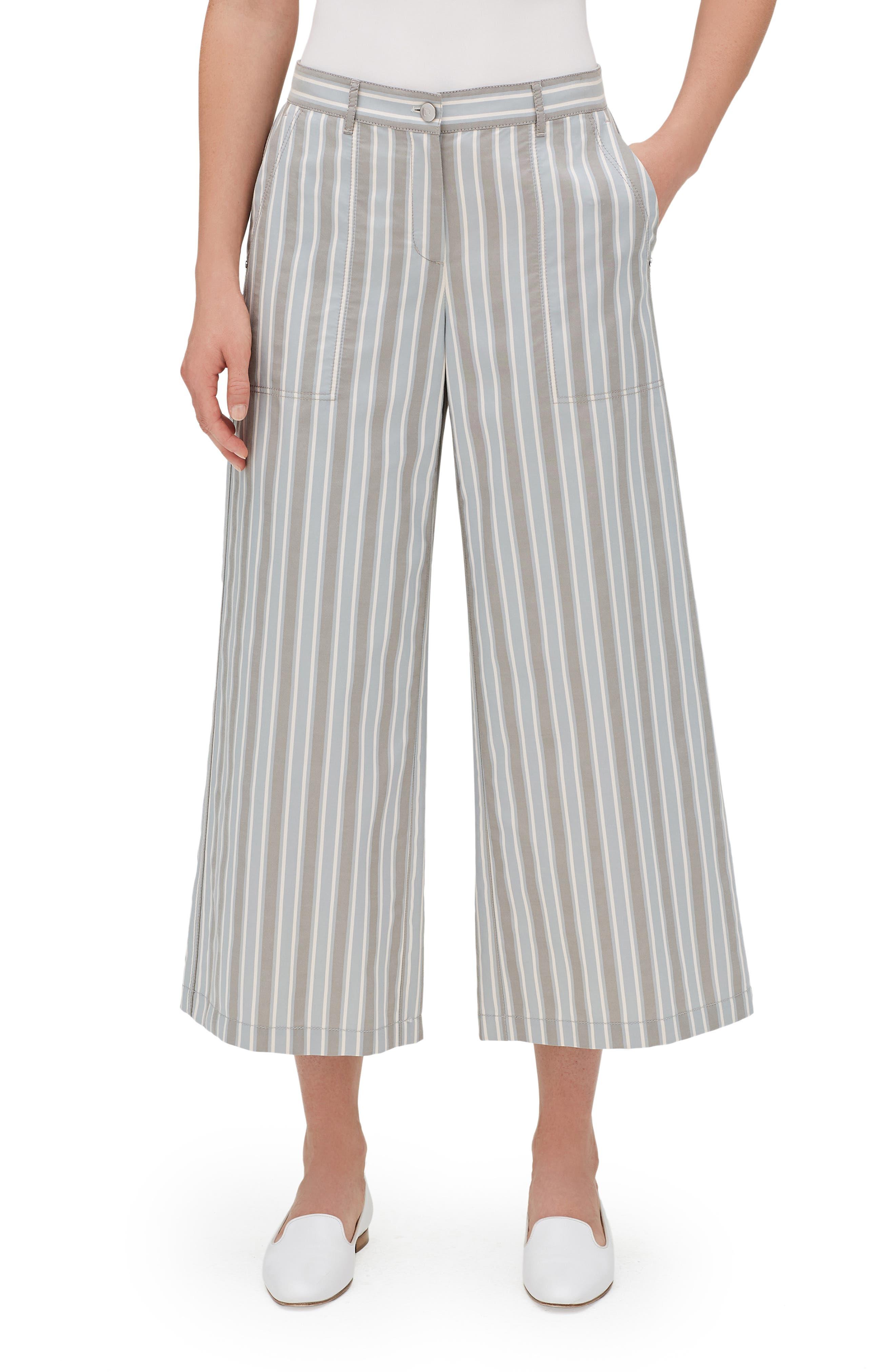 Fulton Elixir Stripe Crop Wide Leg Pants,                             Main thumbnail 1, color,                             MERCURY MULTI