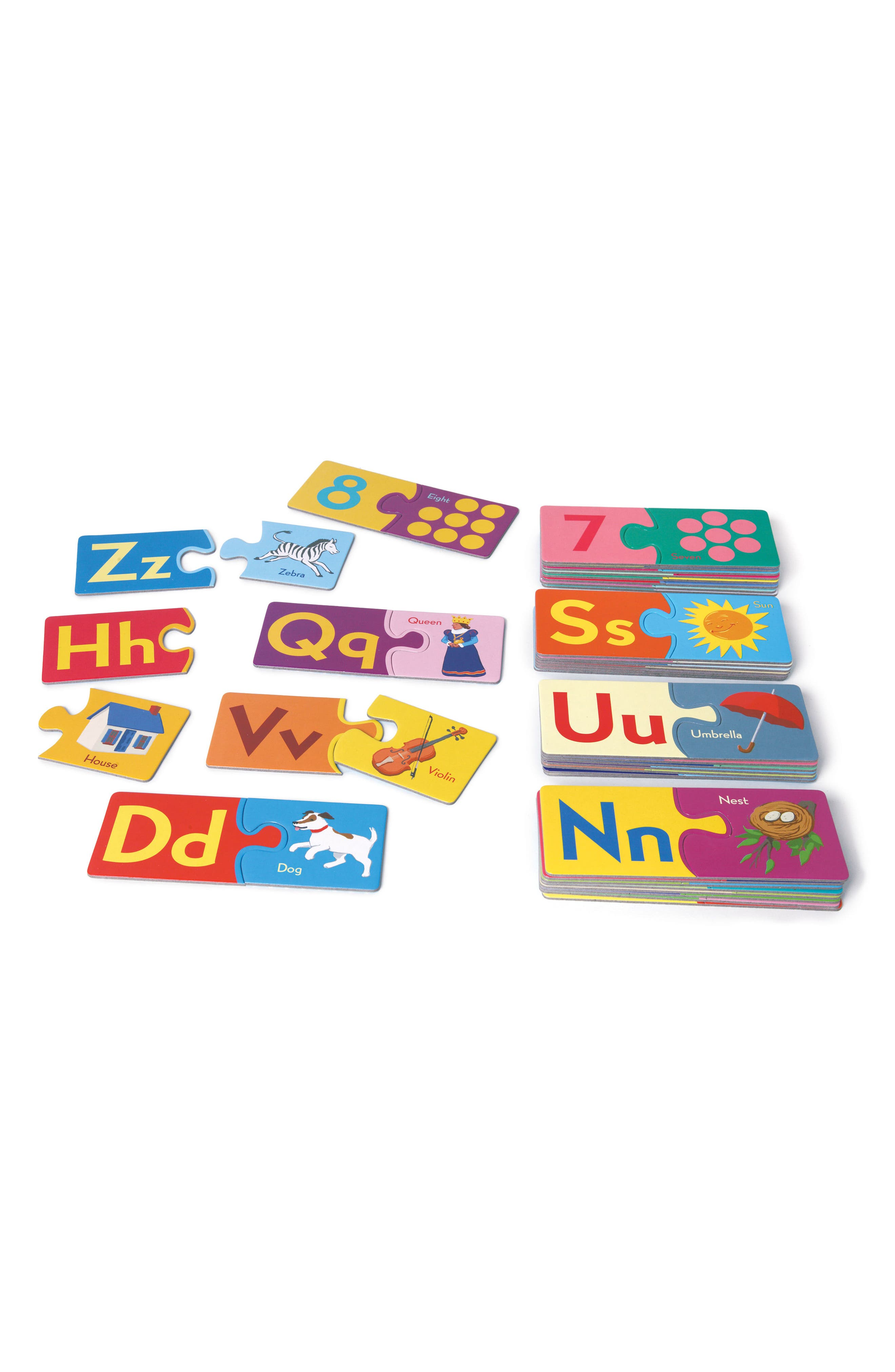 Alphabet & Number Puzzle Pairs,                             Alternate thumbnail 2, color,                             MULTI