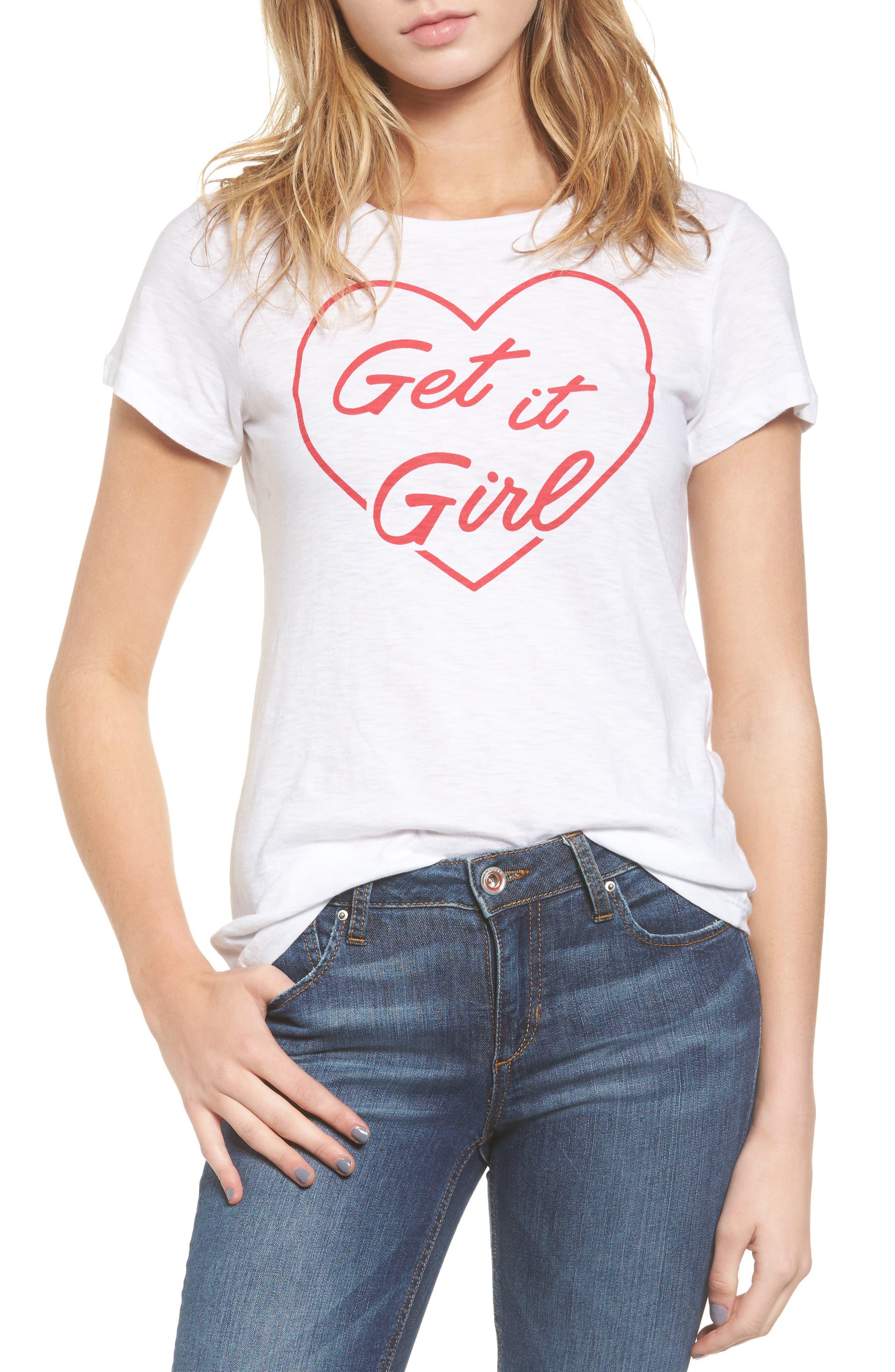Get it Girl Tee,                             Main thumbnail 1, color,                             100