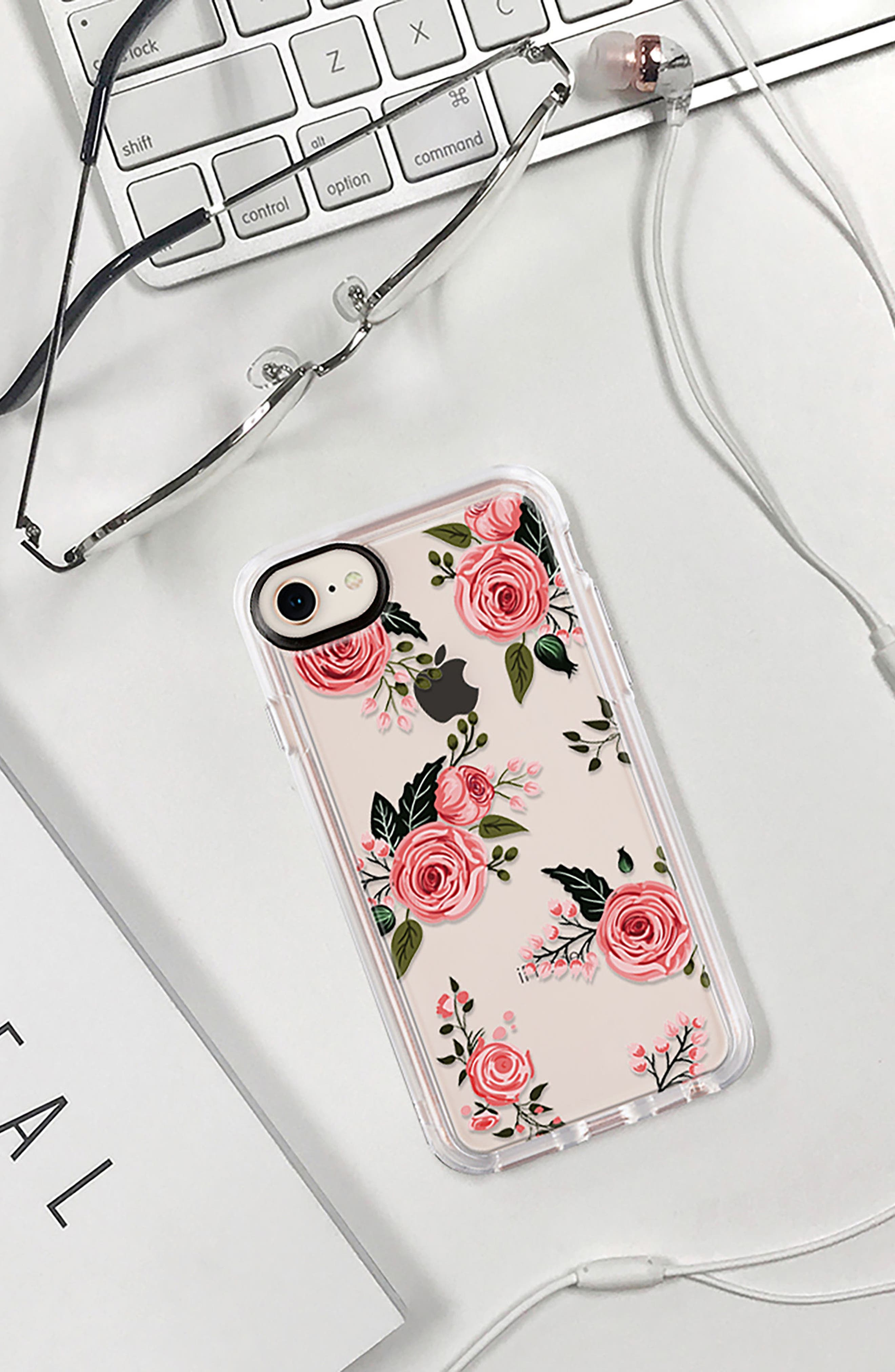 Pink Floral Grip iPhone 7/8 & 7/8 Plus Case,                             Alternate thumbnail 8, color,                             PINK