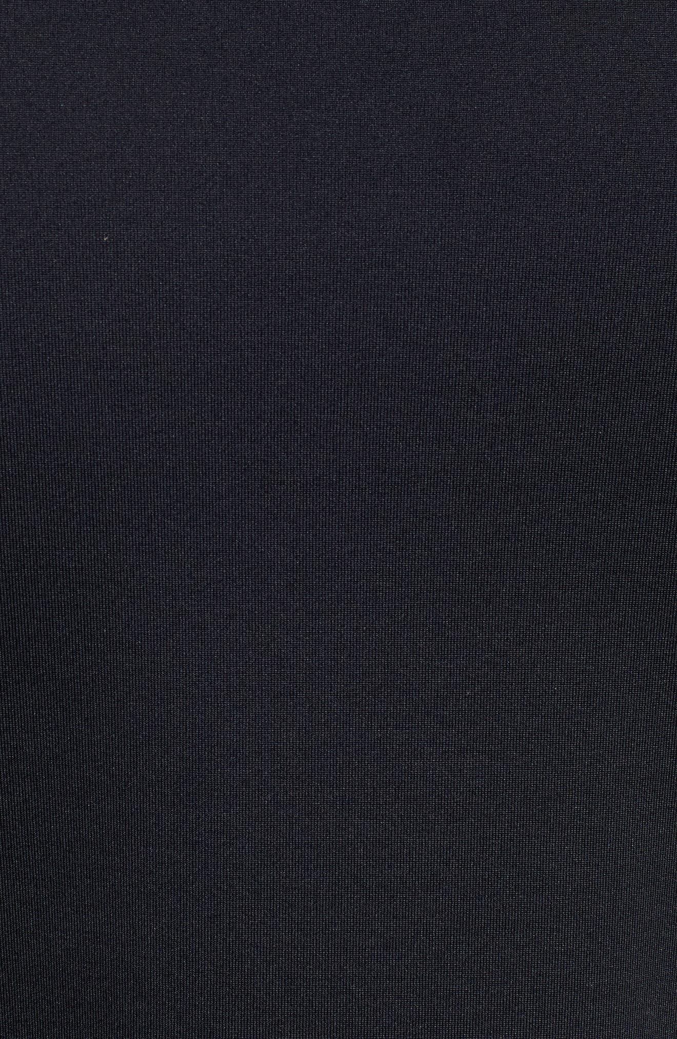 ColdGear<sup>®</sup> Mock Neck Long Sleeve T-Shirt,                             Alternate thumbnail 5, color,                             BLACK/ STEEL