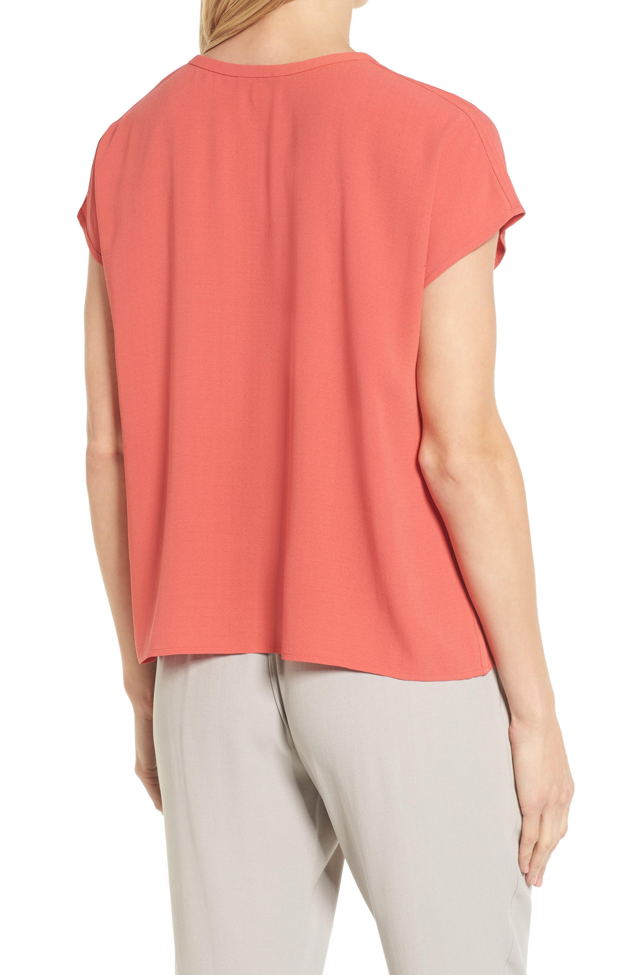 Split Neck Silk Shirt,                             Alternate thumbnail 7, color,