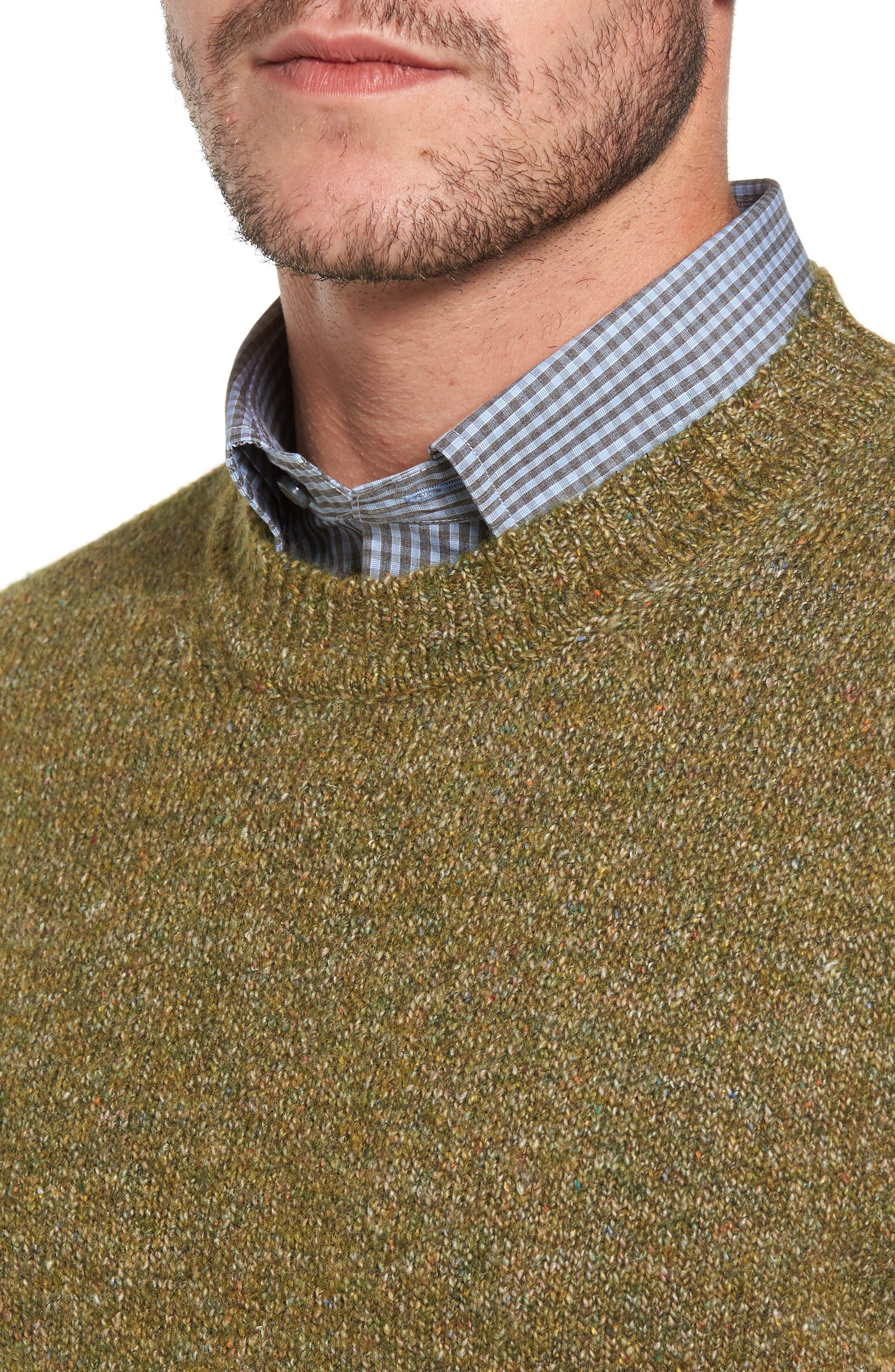 Tweed Crewneck Sweater,                             Alternate thumbnail 8, color,