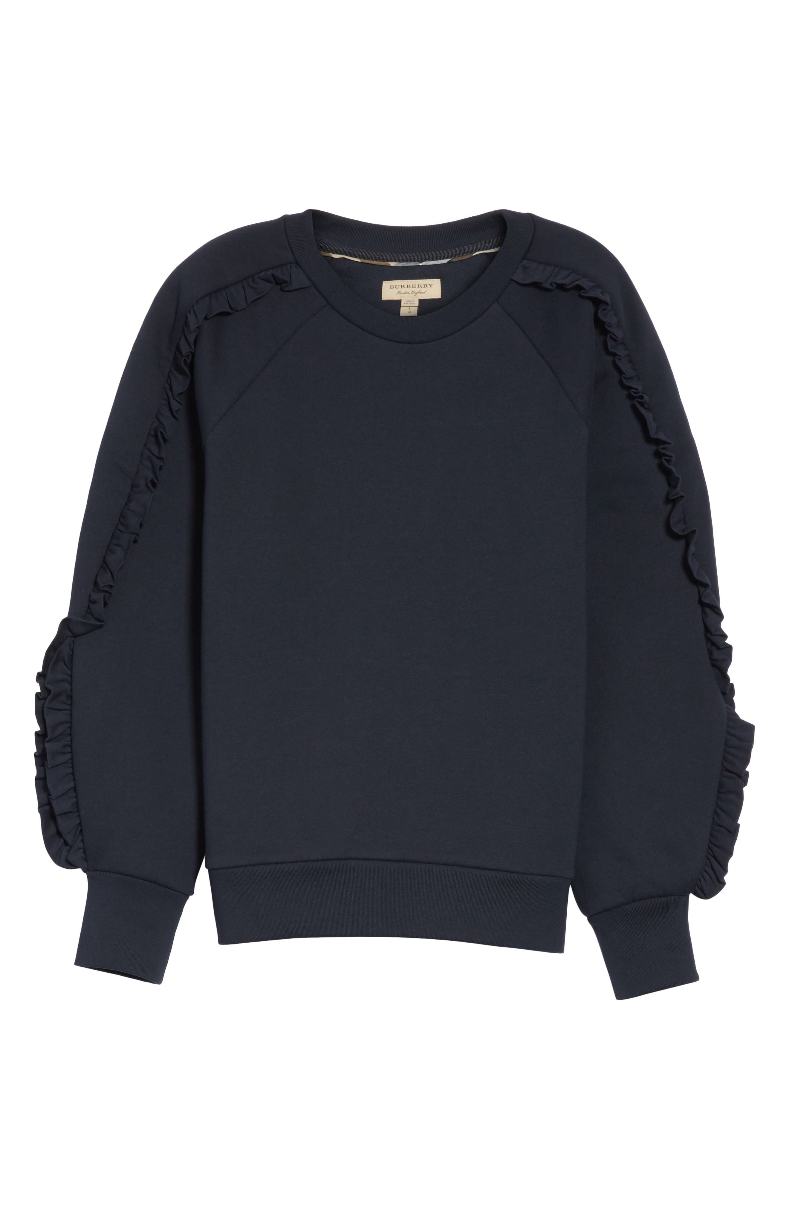 Kupa Ruffle Sleeve Sweatshirt,                             Alternate thumbnail 12, color,