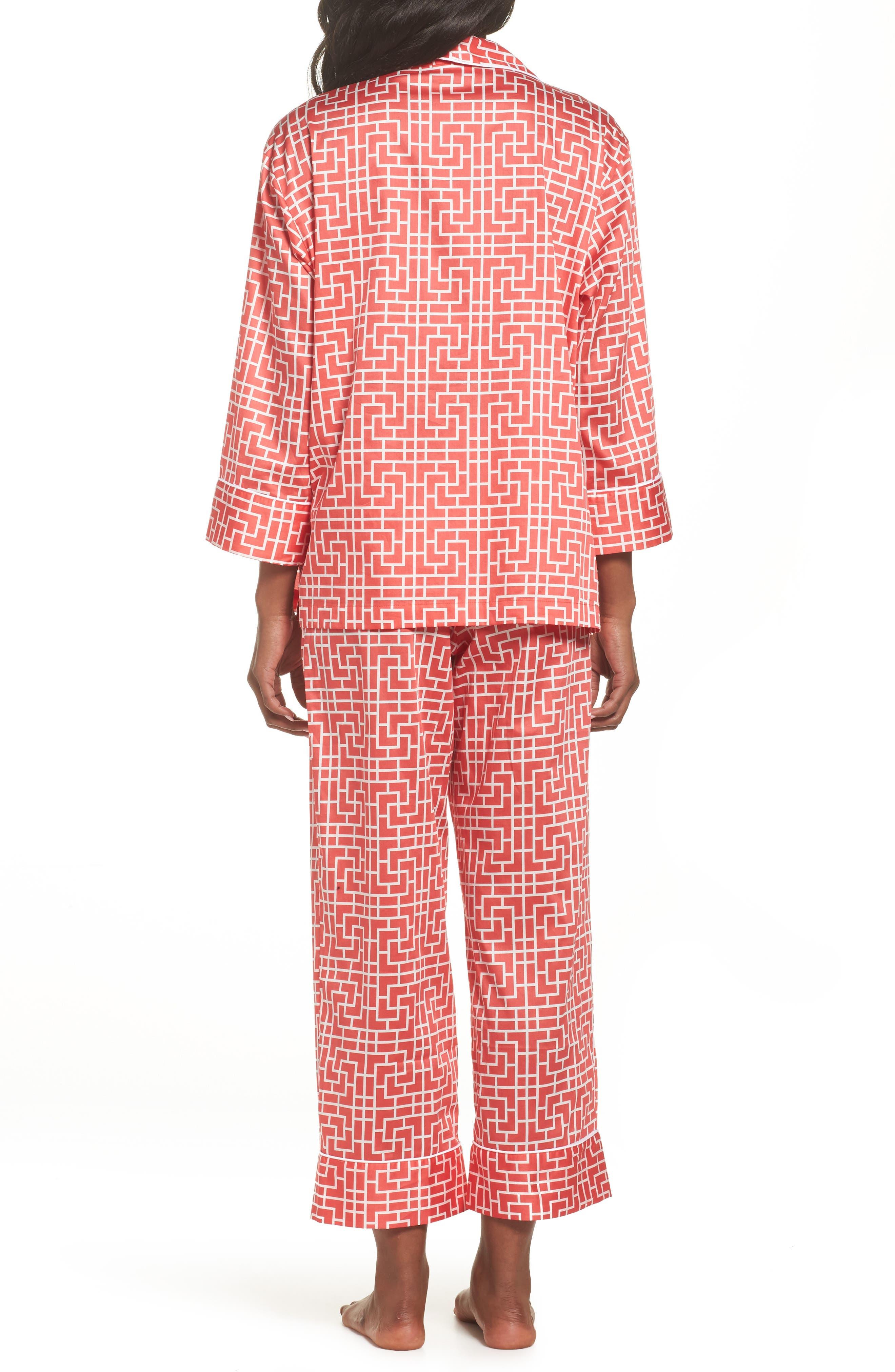 Abstract Maze Sateen Pajamas,                             Alternate thumbnail 4, color,