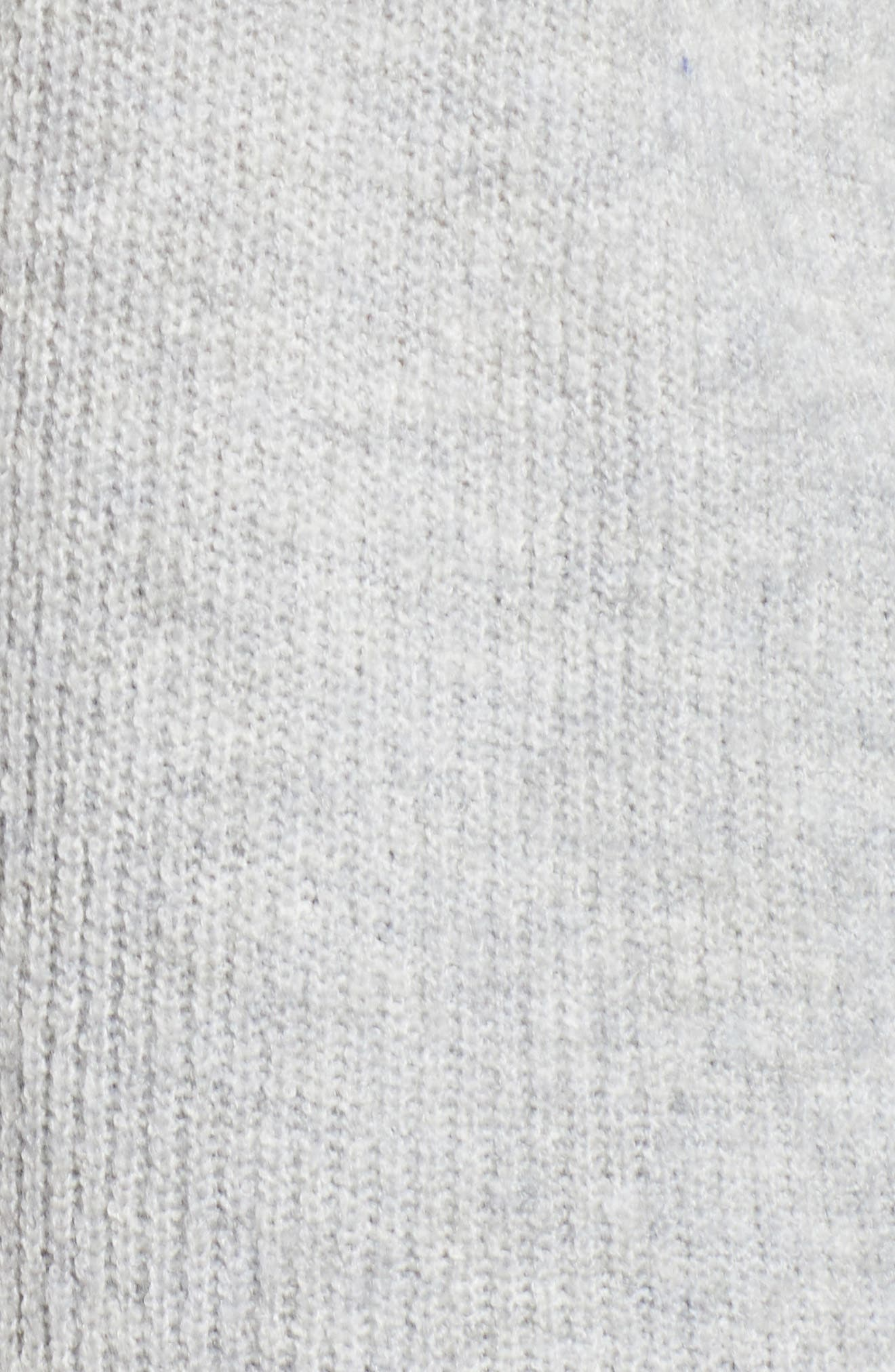 Side Button Hooded Sweater,                             Alternate thumbnail 6, color,                             GREY LIGHT HEATHER