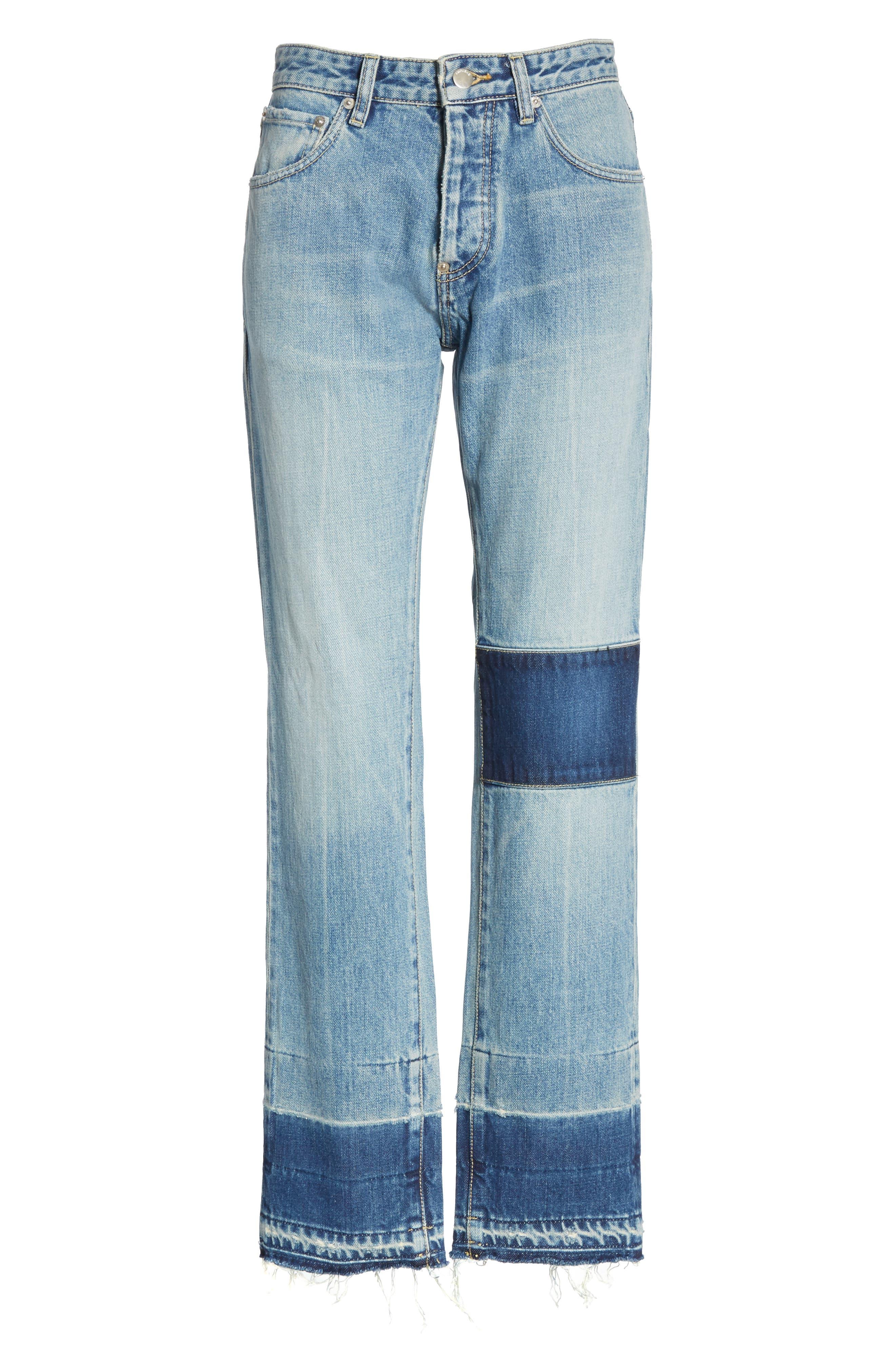 Patch Jeans,                             Alternate thumbnail 6, color,                             BLUE