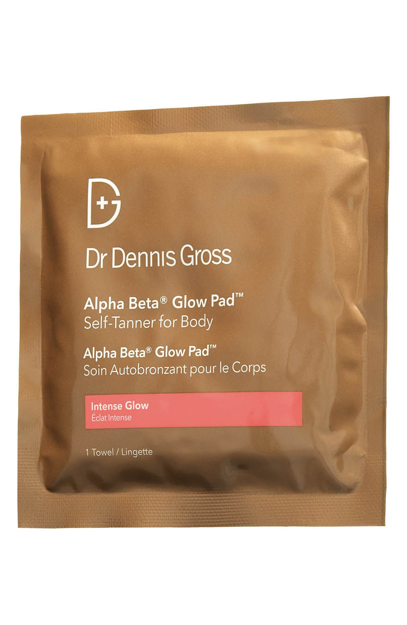 'Alpha Beta<sup>®</sup> Glow Pads' Exfoliating Anti-Aging Self-Tanner for Body,                         Main,                         color, NO COLOR