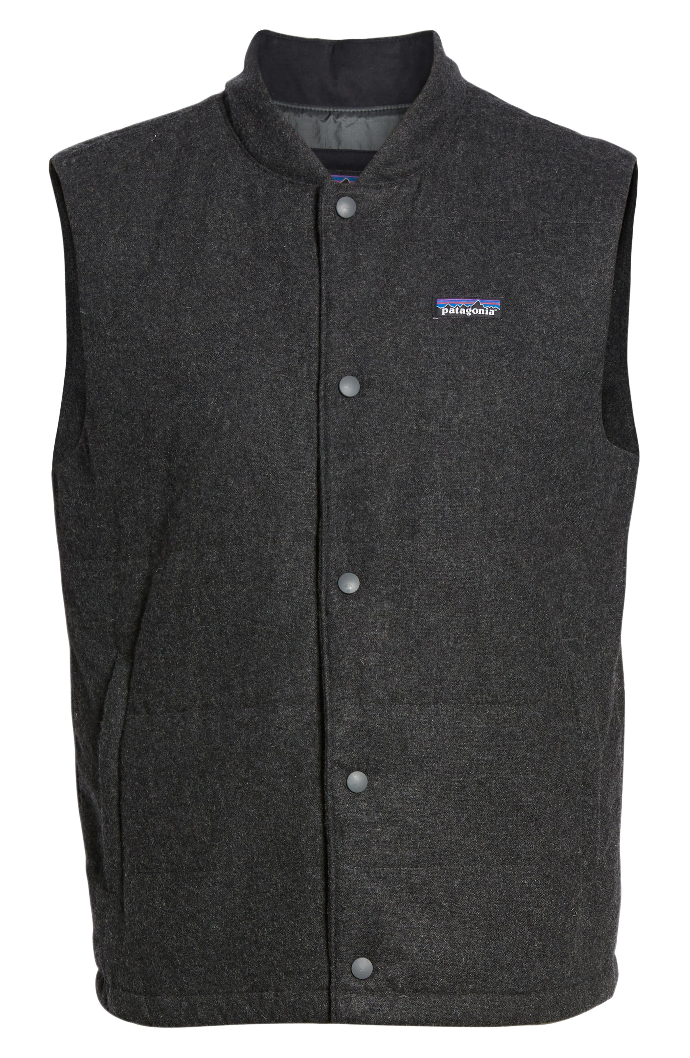 Recycled Woolyester Vest,                             Alternate thumbnail 6, color,                             FORGE GREY
