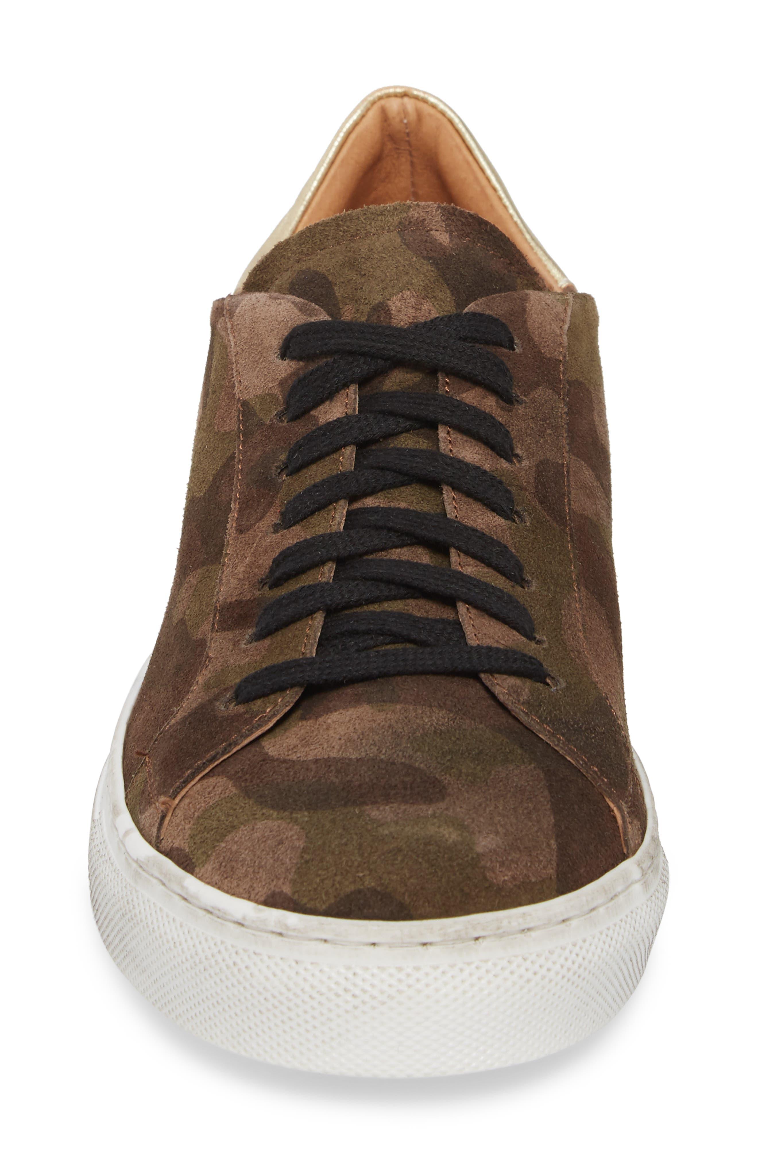 Orissa Sneaker,                             Alternate thumbnail 4, color,                             MILITARY PRINT SUEDE