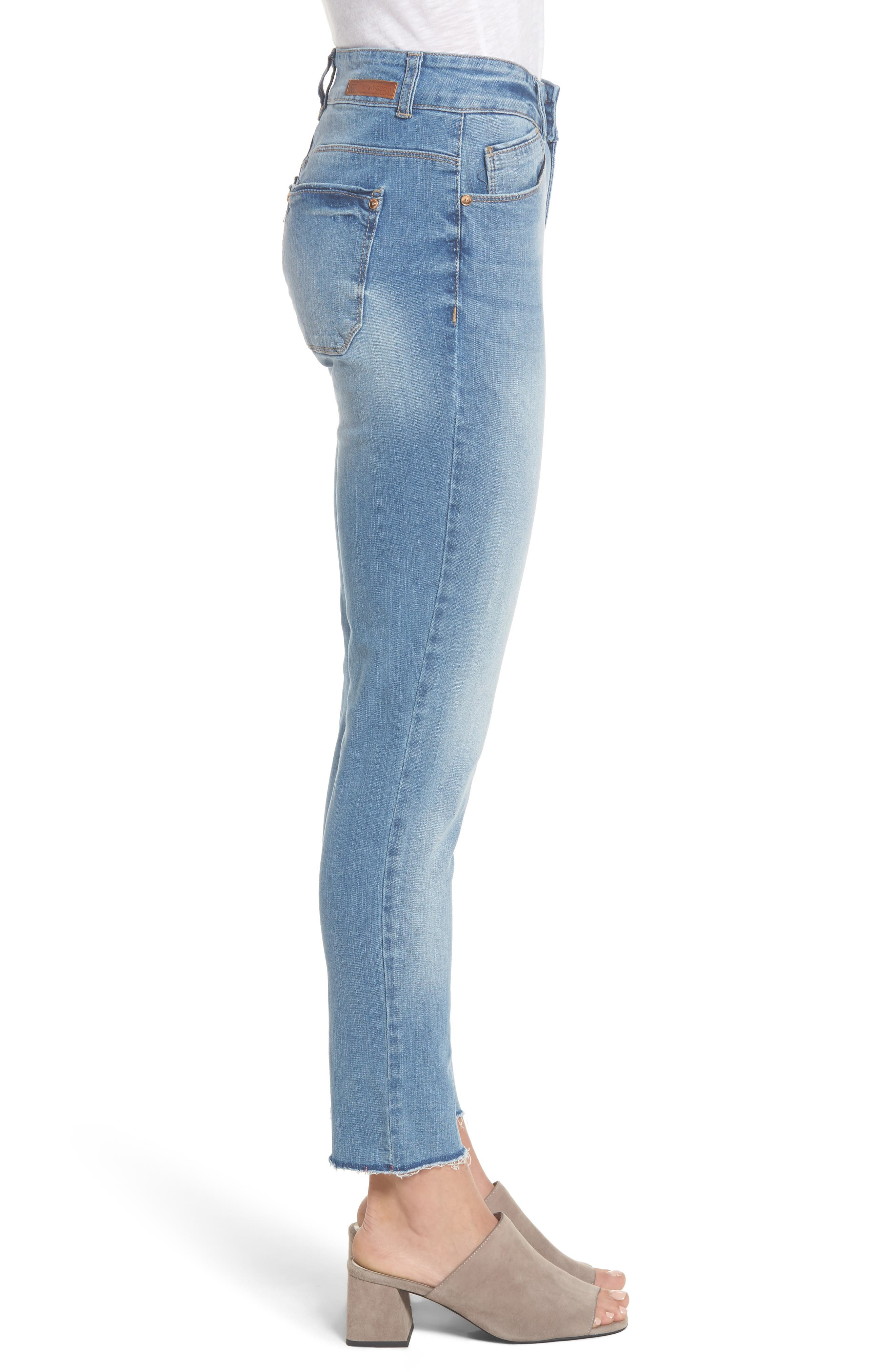 Two-Button High Waist Skinny Jeans,                             Alternate thumbnail 6, color,