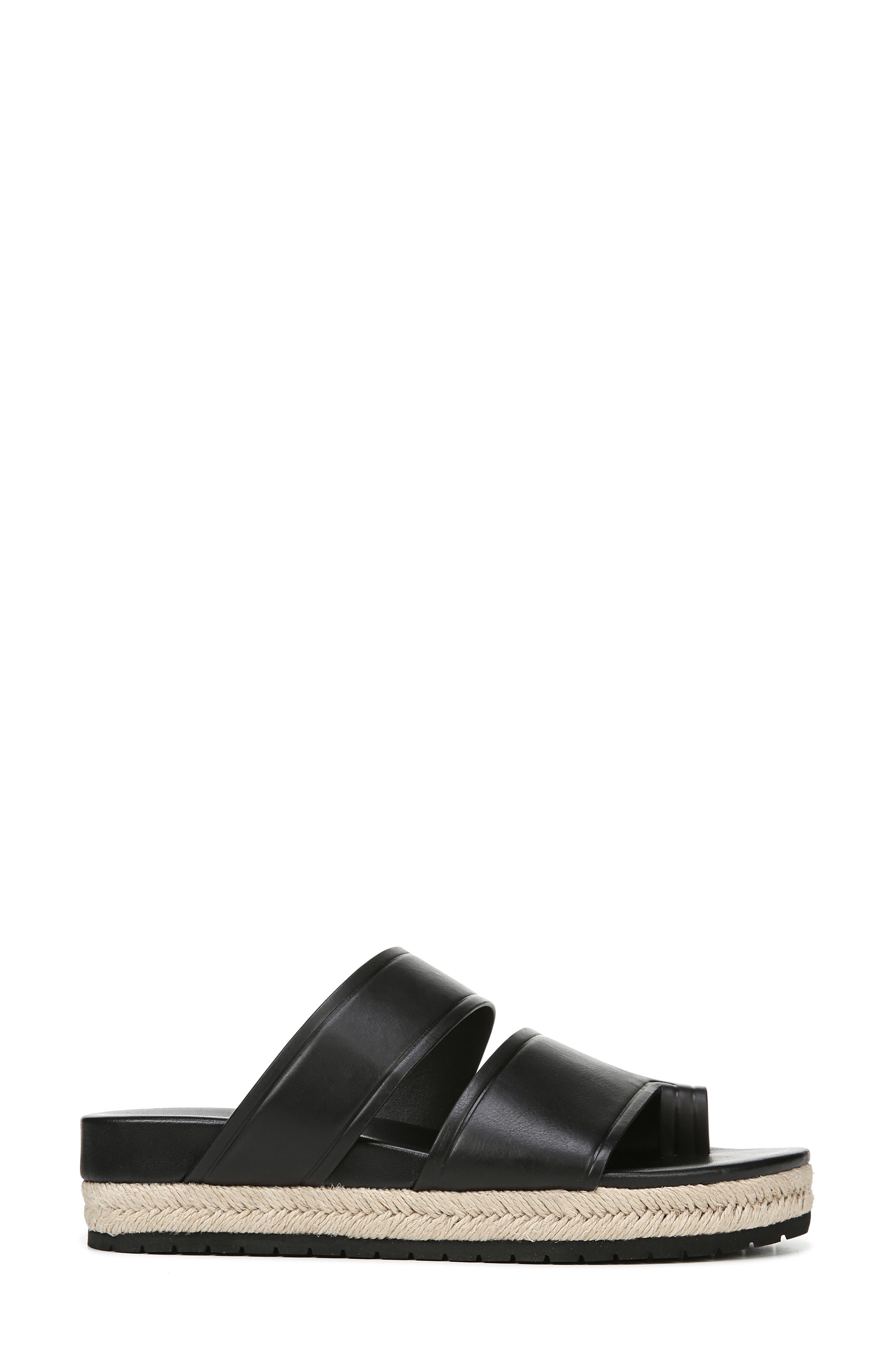 VINCE,                             Floyd Platform Slide Sandal,                             Alternate thumbnail 3, color,                             BLACK