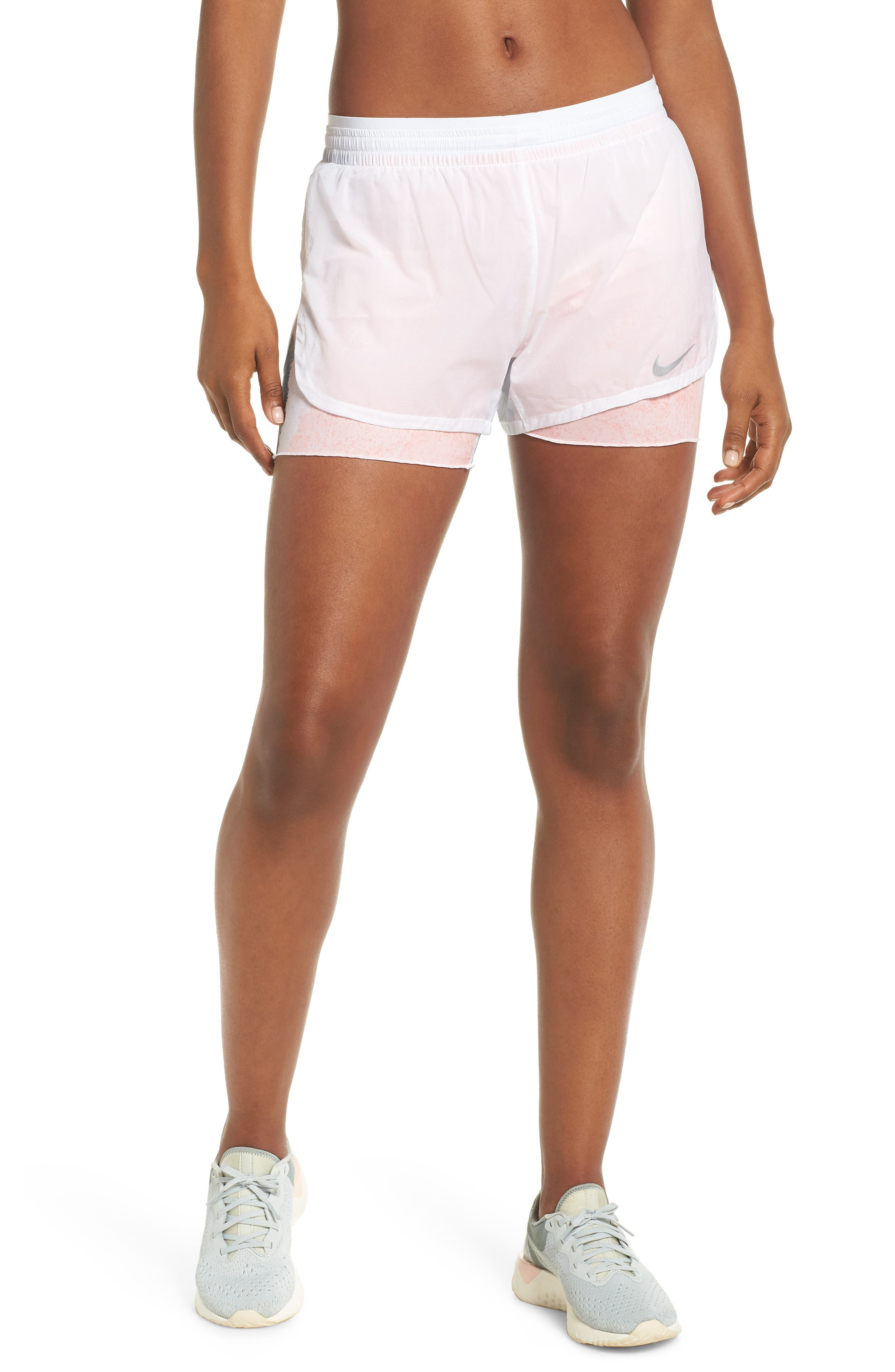 Elevate 2-in-1 Running Shorts,                             Main thumbnail 1, color,                             WHITE