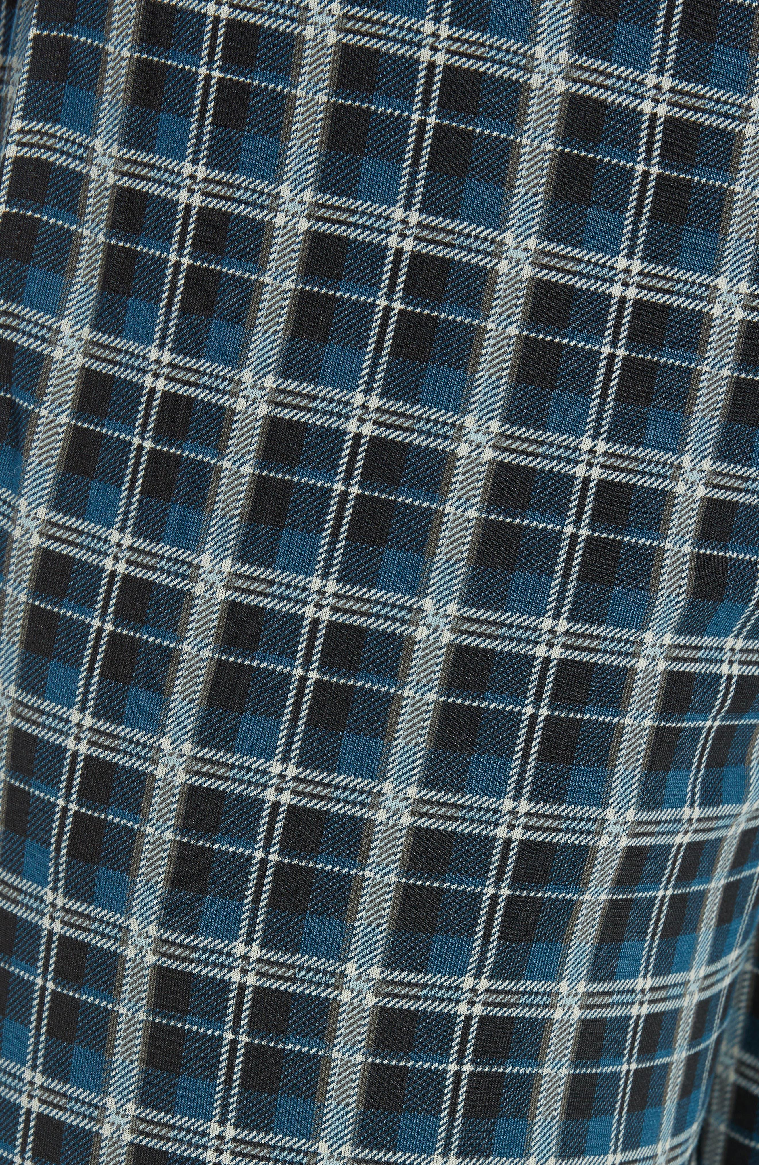 Second Skin Stretch Modal Pajama Pants,                             Alternate thumbnail 5, color,                             REFLECTING POND PLAID