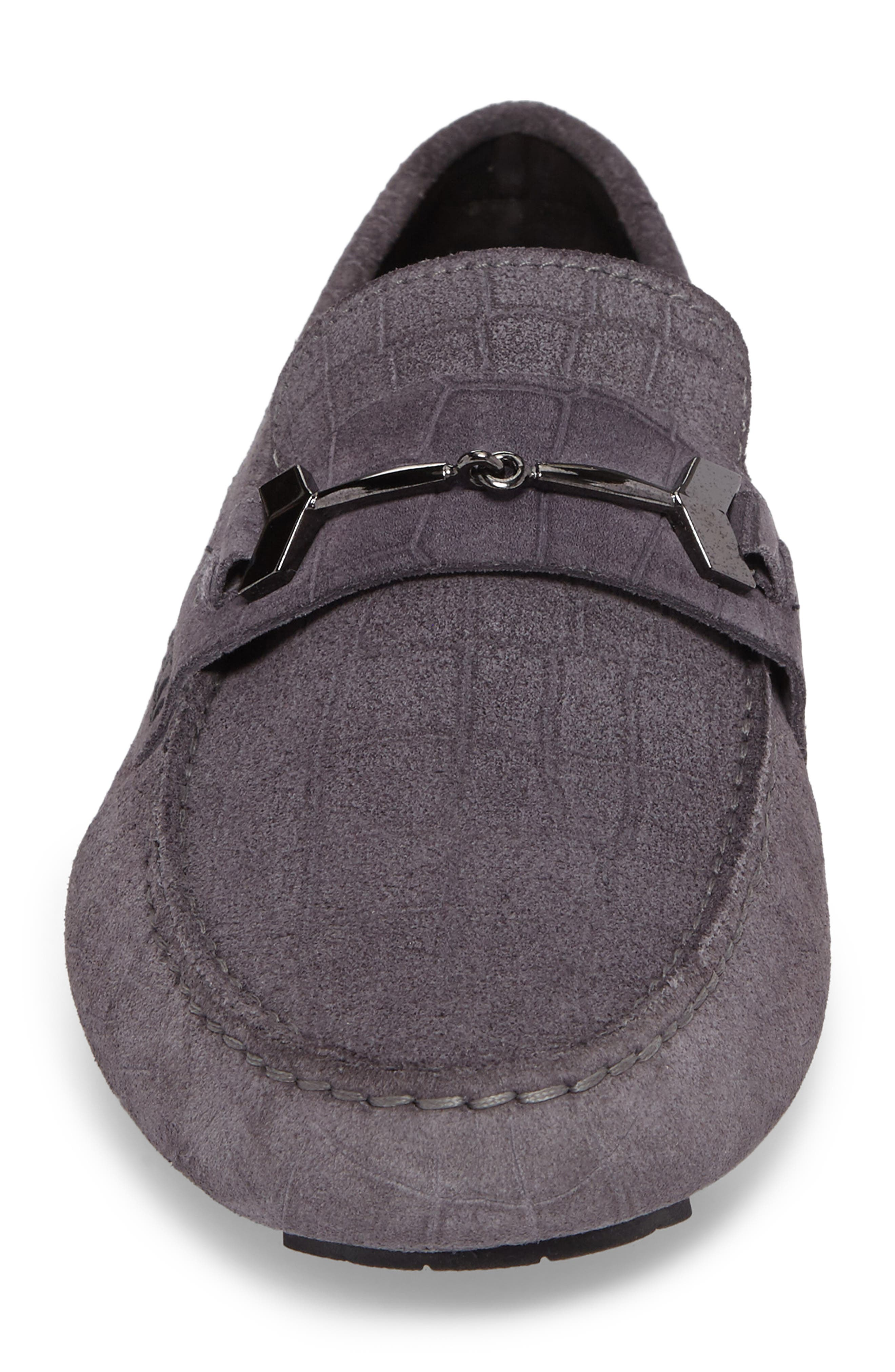 Brewer Croc Textured Driving Loafer,                             Alternate thumbnail 8, color,
