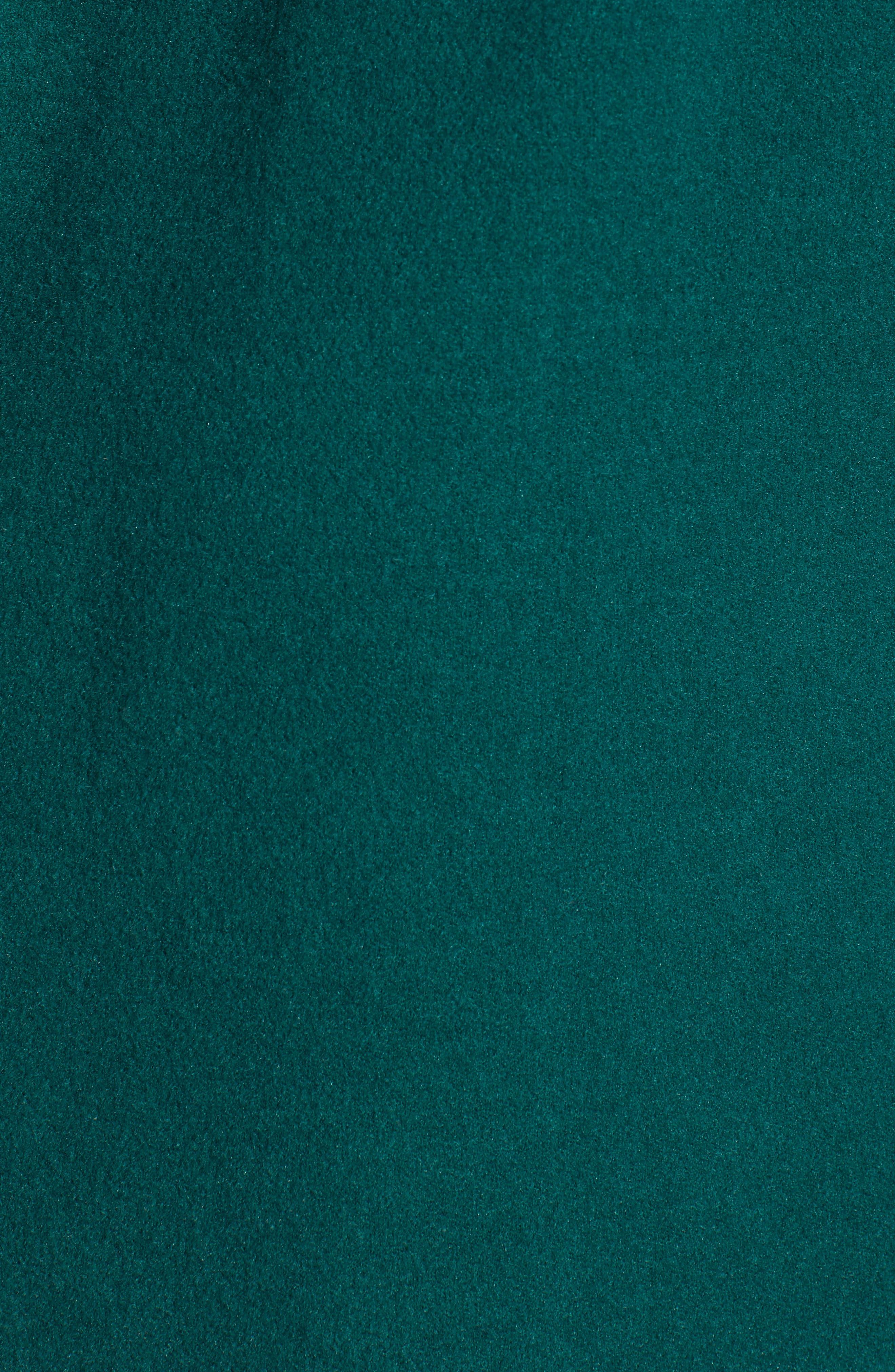 Open Front Midi Coat,                             Alternate thumbnail 7, color,                             GREEN BOTANICAL