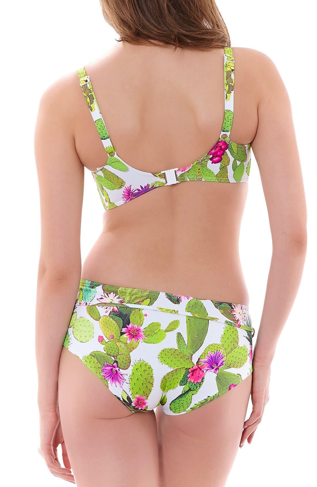 'Cactus' Underwire Bikini Top,                             Alternate thumbnail 5, color,                             348