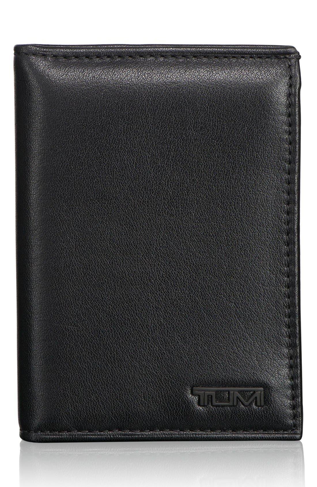 Delta - ID Lock Shielded L-Fold ID Wallet,                             Main thumbnail 1, color,                             BLACK