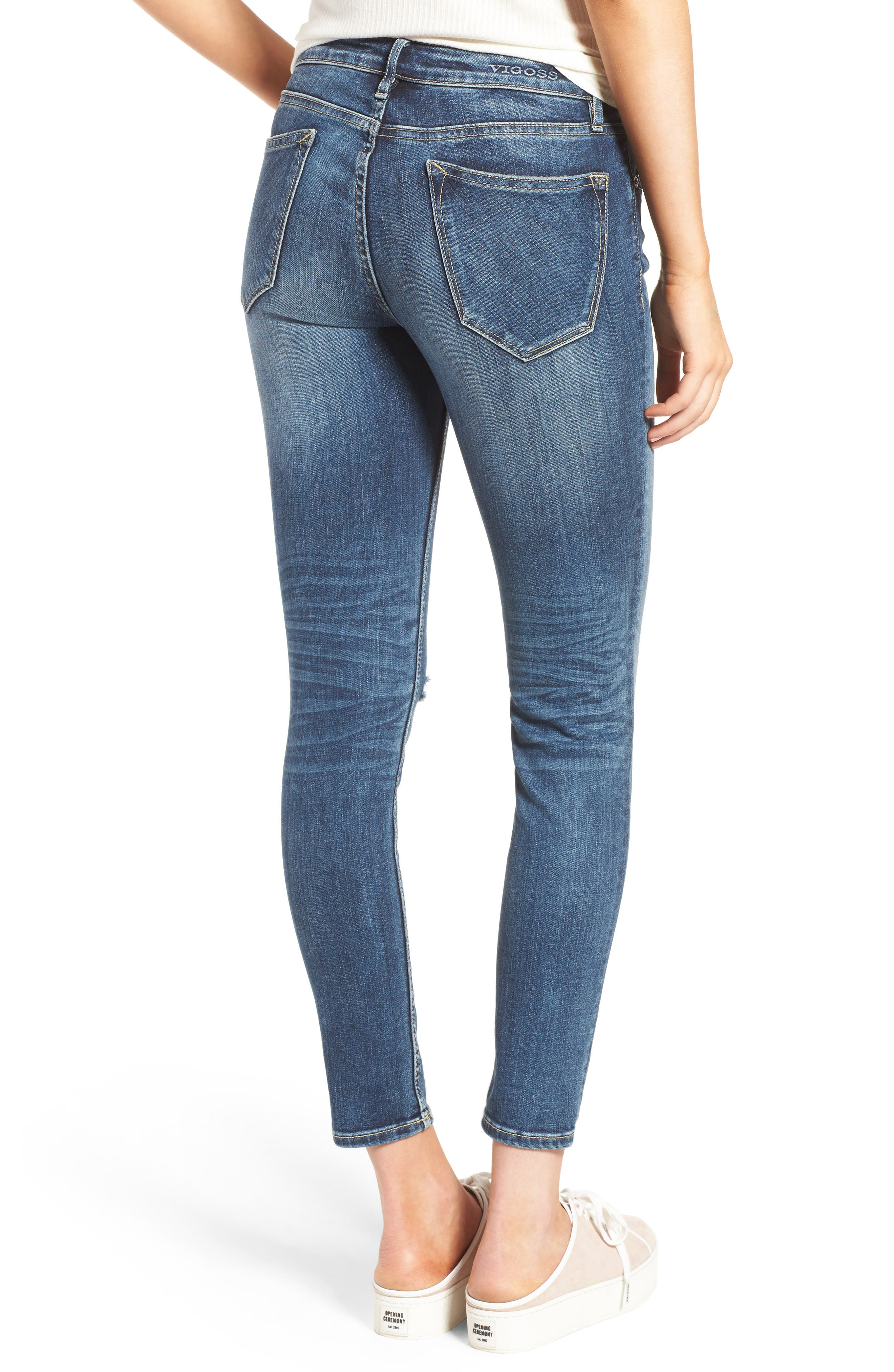 Thompson Tomboy Ripped Jeans,                             Alternate thumbnail 2, color,                             403